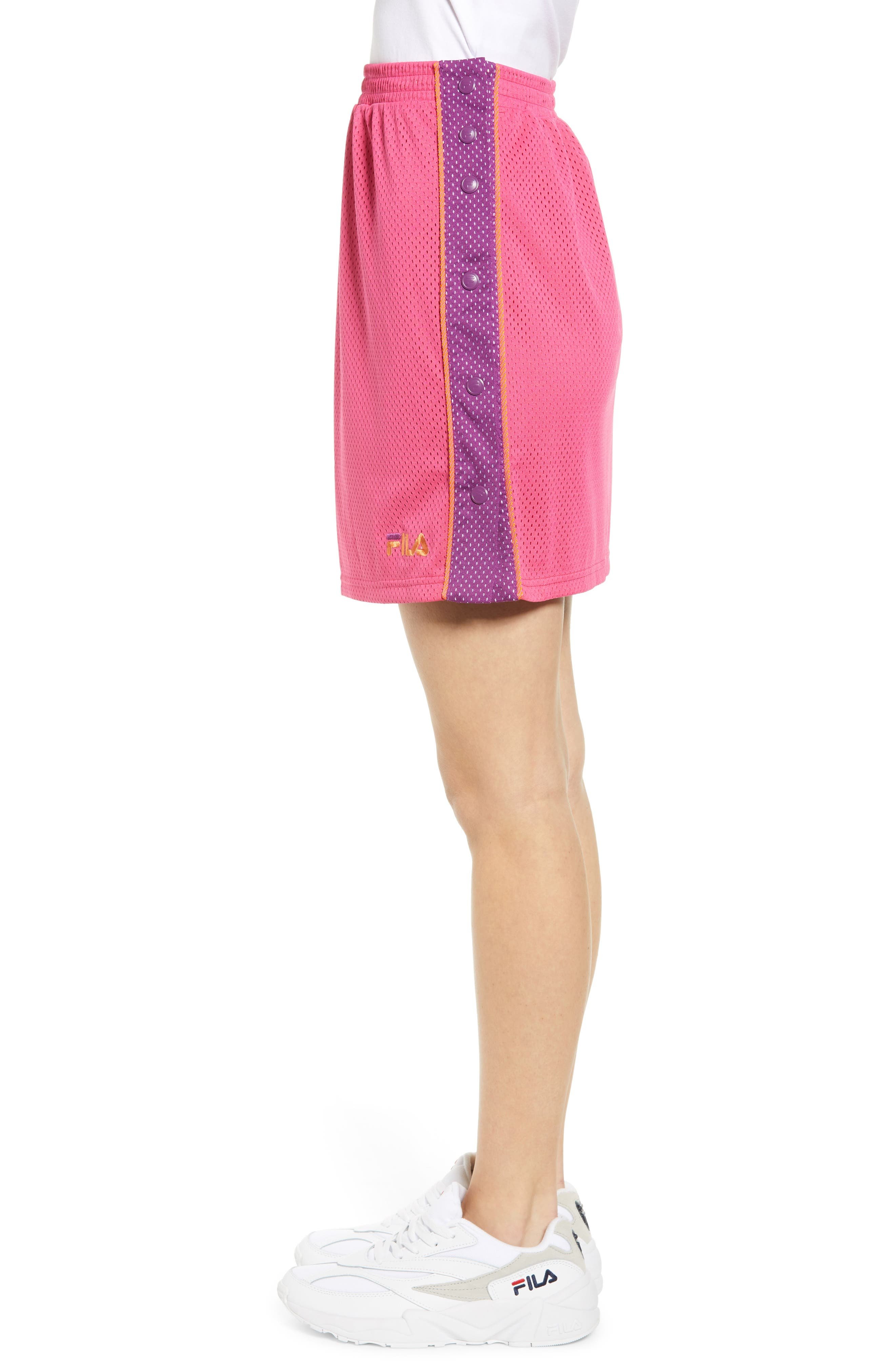 FILA, Miriam Tearaway Miniskirt, Alternate thumbnail 5, color, FUCHSIA PURPLE/ GRAPE/ GREEN