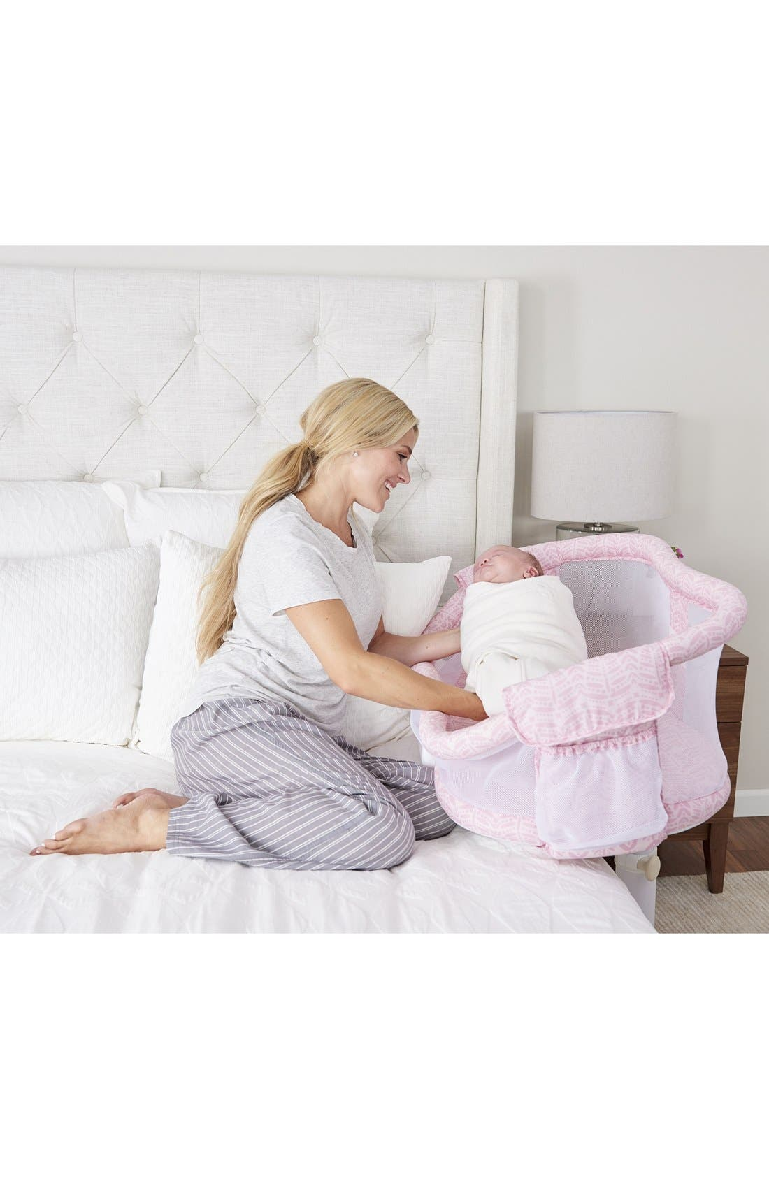HALO<SUP>®</SUP>, Bassinest<sup>™</sup> Bedside Swivel Sleeper, Alternate thumbnail 3, color, PINK FERN