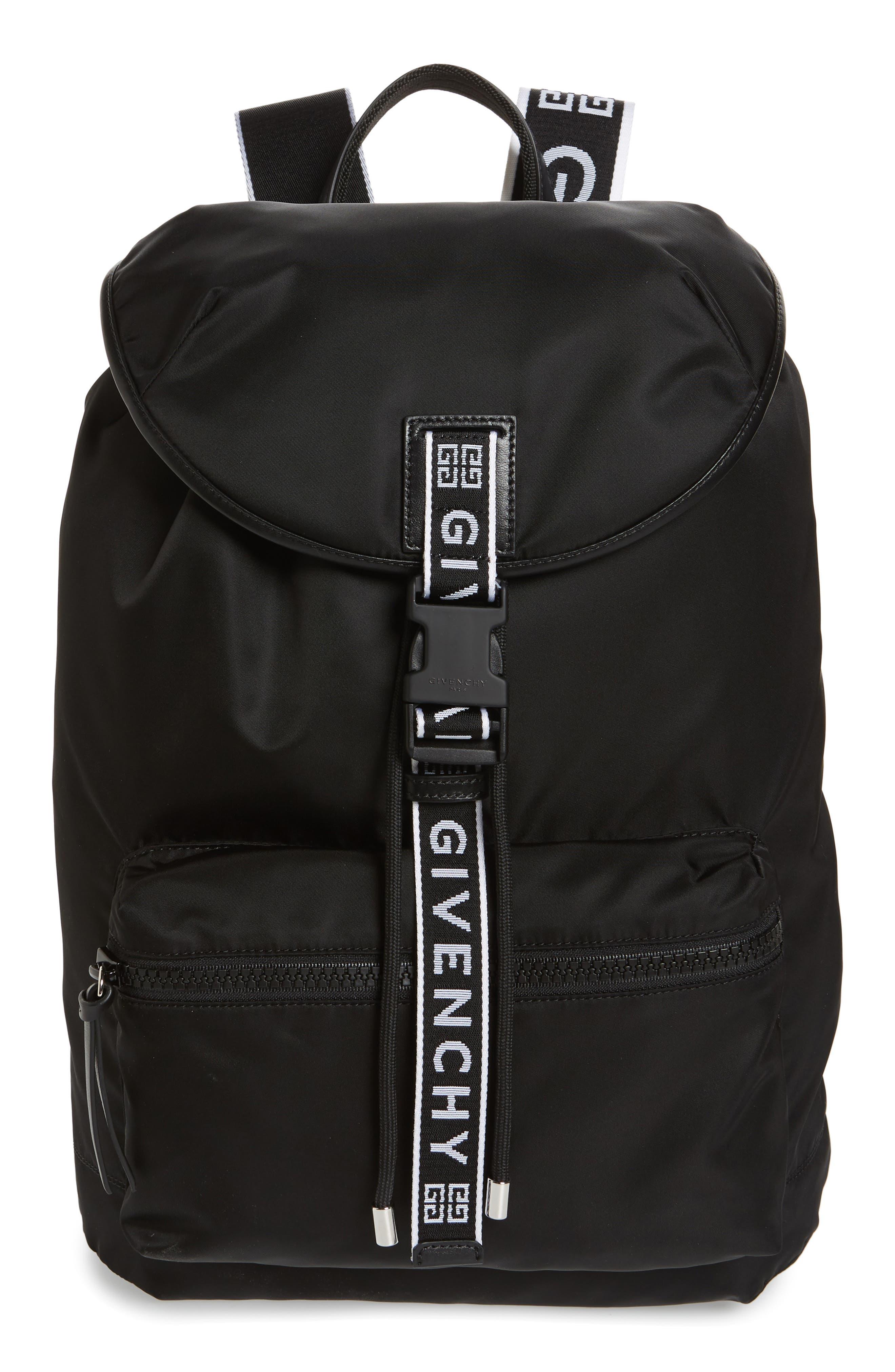 GIVENCHY, Light 3 Backpack, Main thumbnail 1, color, BLACK/ WHITE