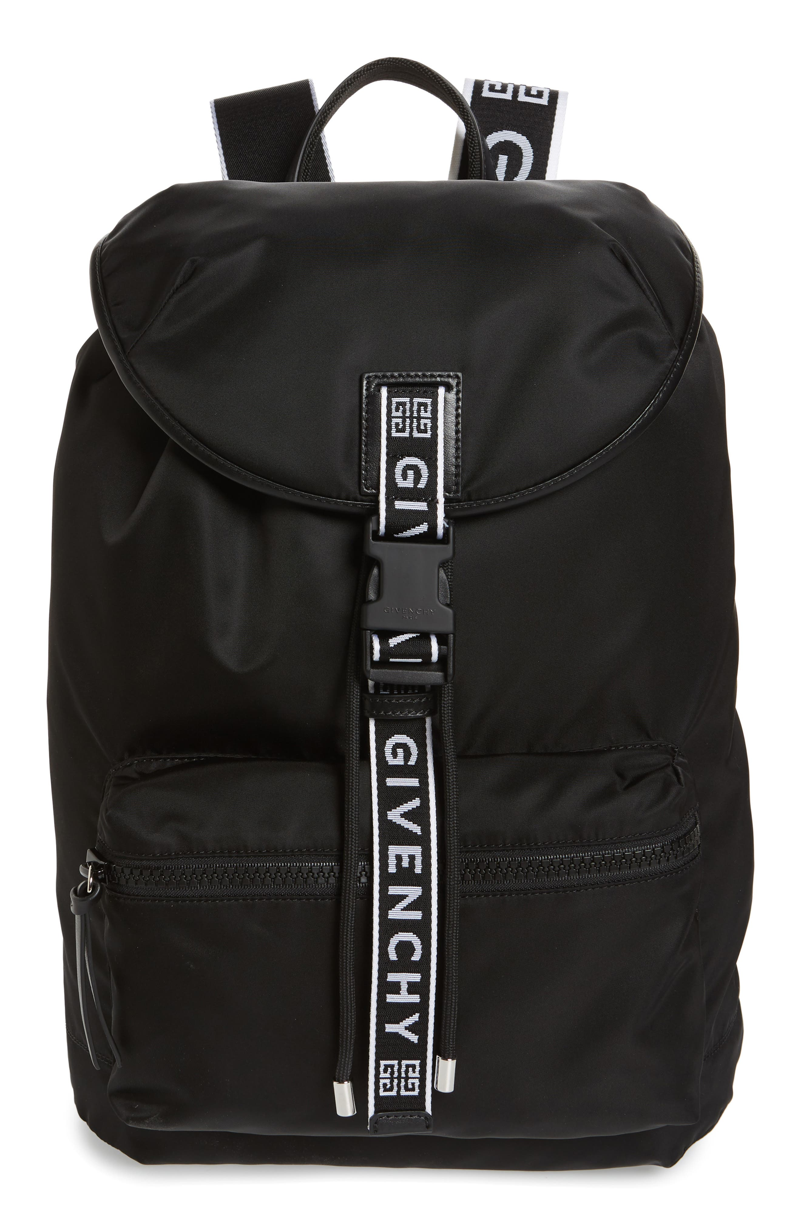 GIVENCHY Light 3 Backpack, Main, color, BLACK/ WHITE
