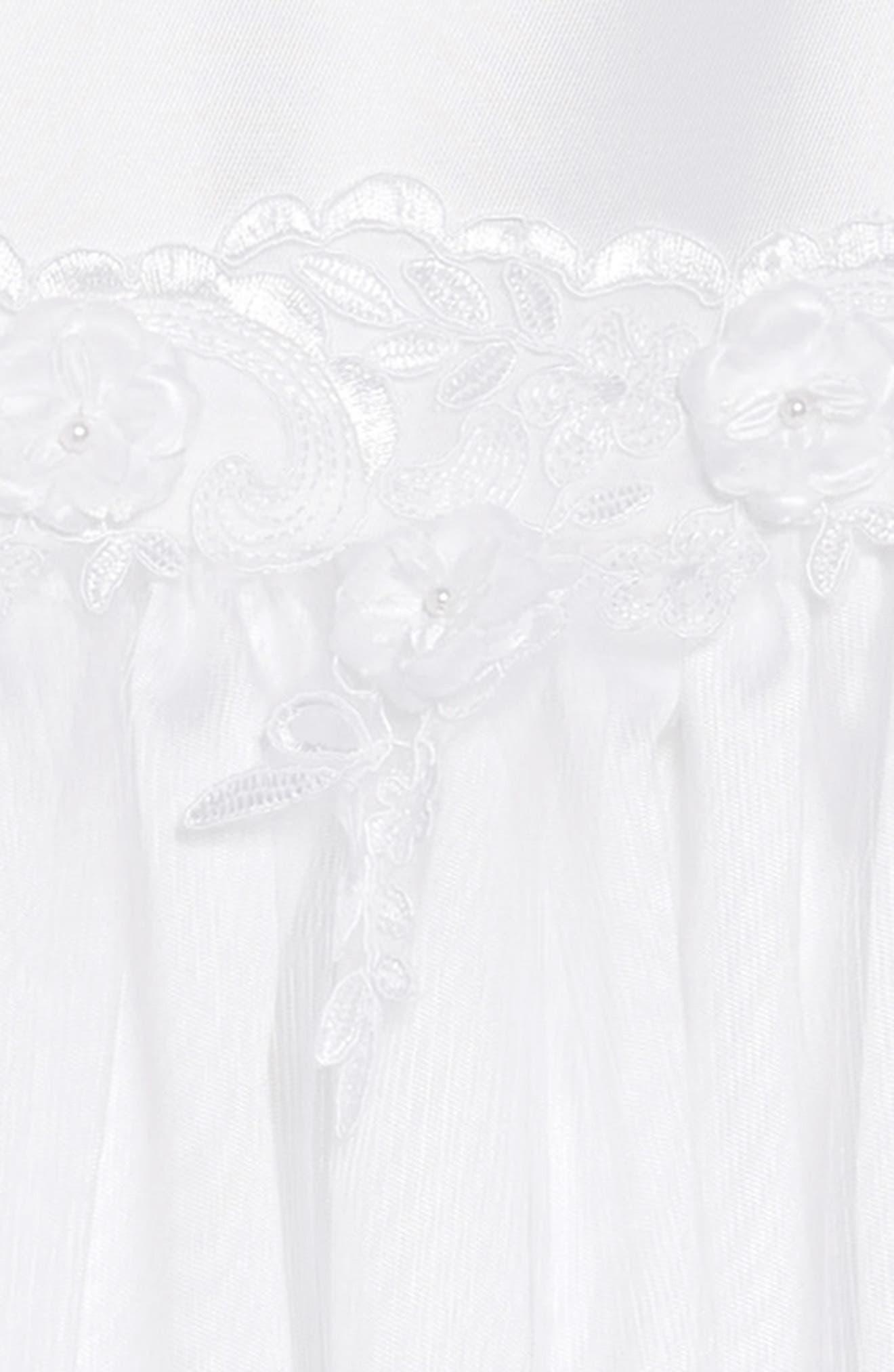 IRIS & IVY, Sweetheart Fit & Flare Mikado Dress & Jacket Set, Alternate thumbnail 4, color, WHITE