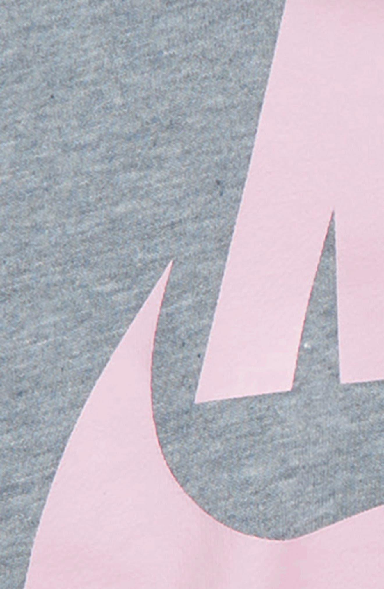 NIKE, Air Logo Crop Sweatshirt, Alternate thumbnail 2, color, ASHEN SLATE/ HEATHER/ PINK