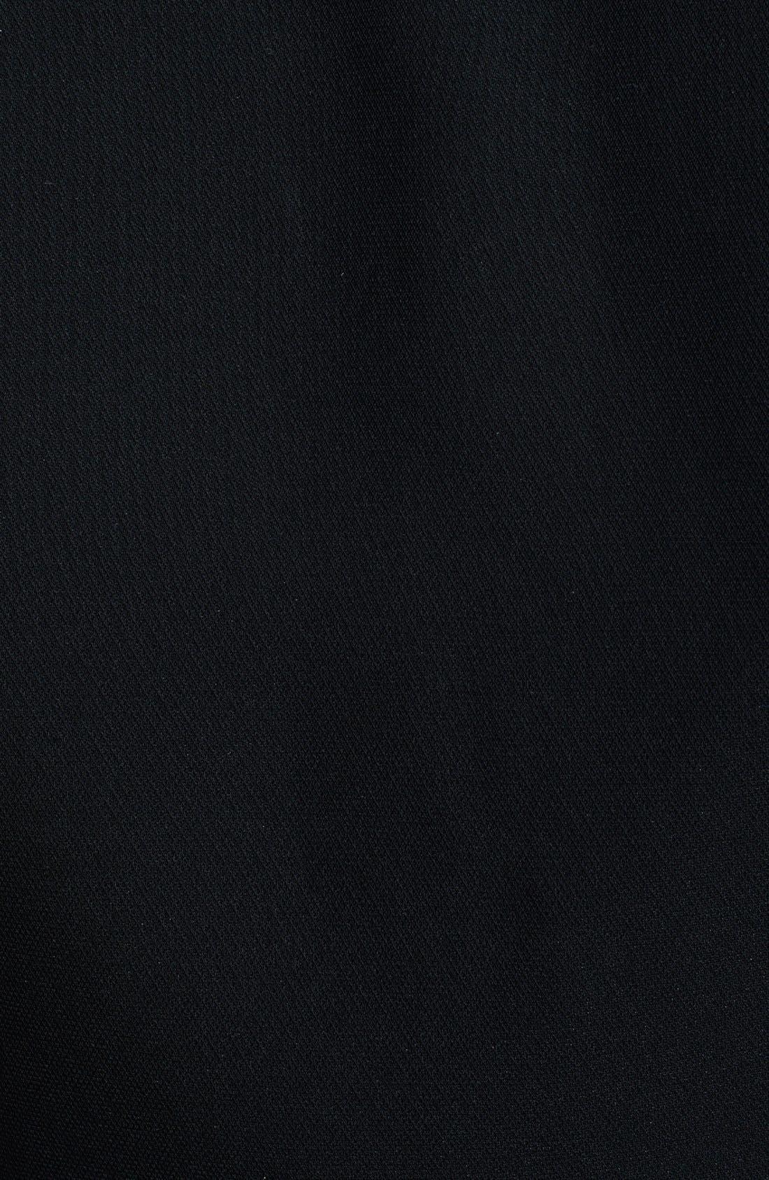 THE KOOPLES, Cutout Crepe Dress, Alternate thumbnail 3, color, 001