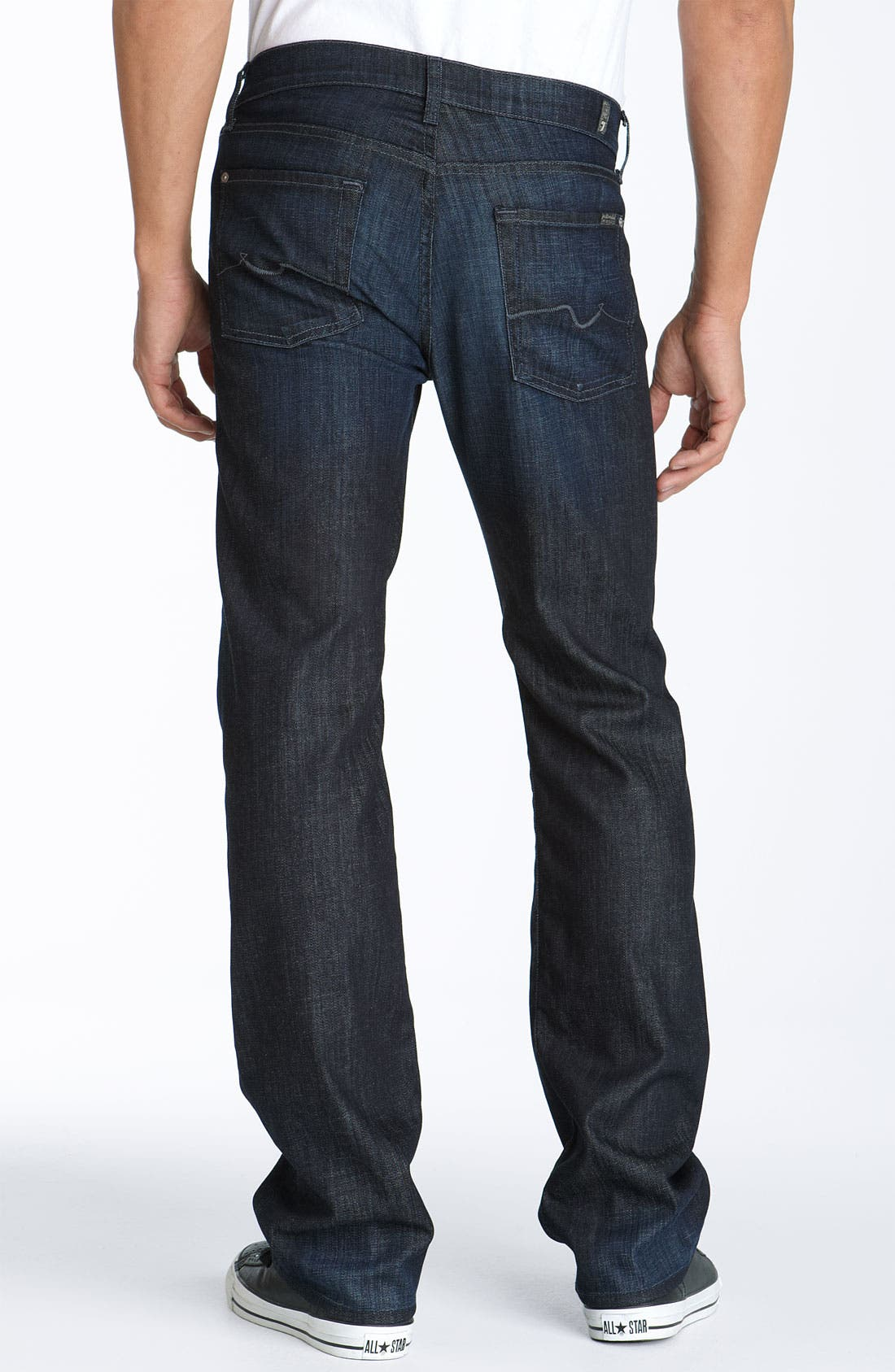 7 FOR ALL MANKIND<SUP>®</SUP>, 'Standard' Straight Leg Jeans, Main thumbnail 1, color, 484