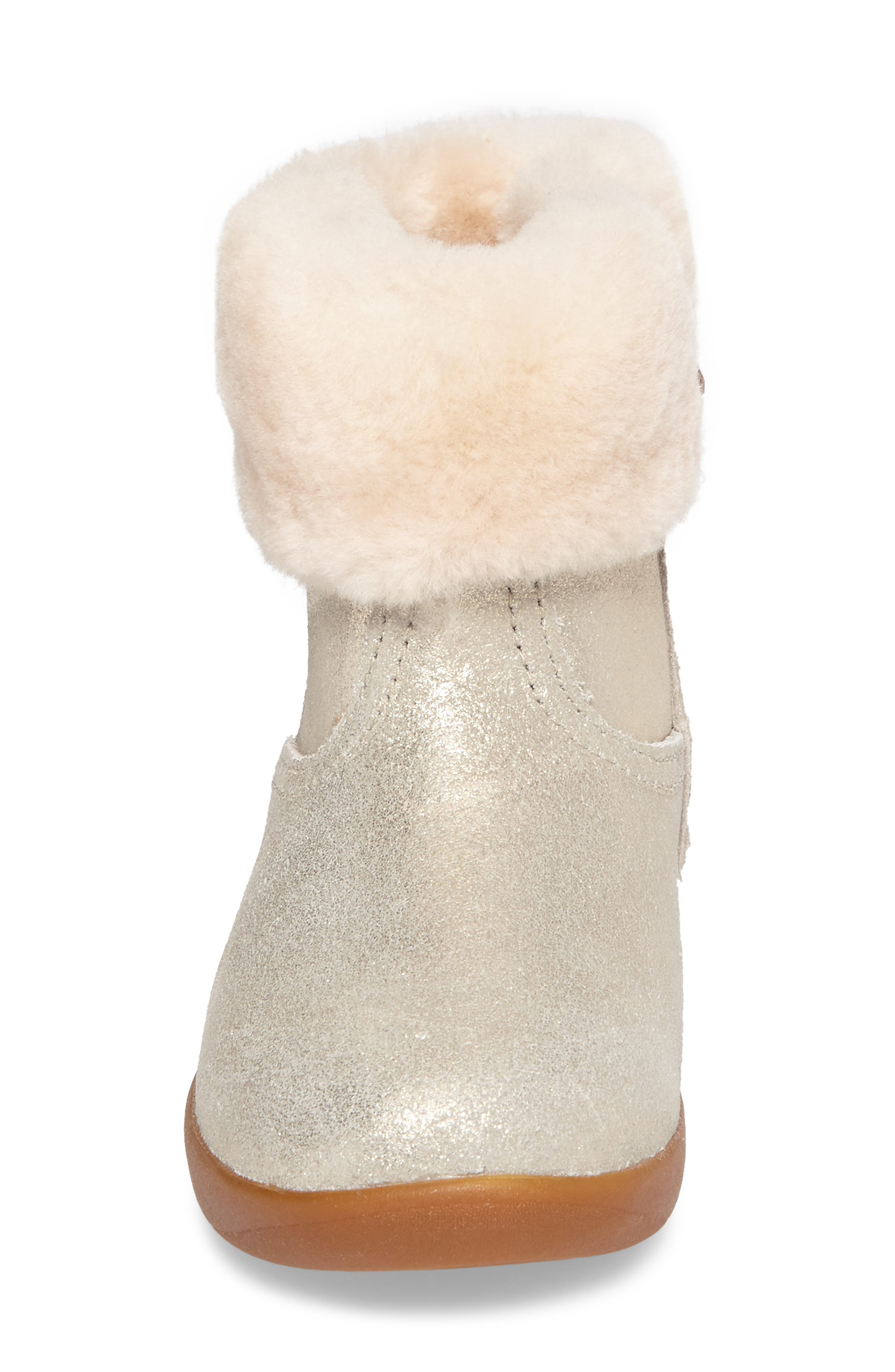 UGG<SUP>®</SUP>, Jorie II Genuine Shearling Metallic Boot, Alternate thumbnail 4, color, METALLIC GOLD