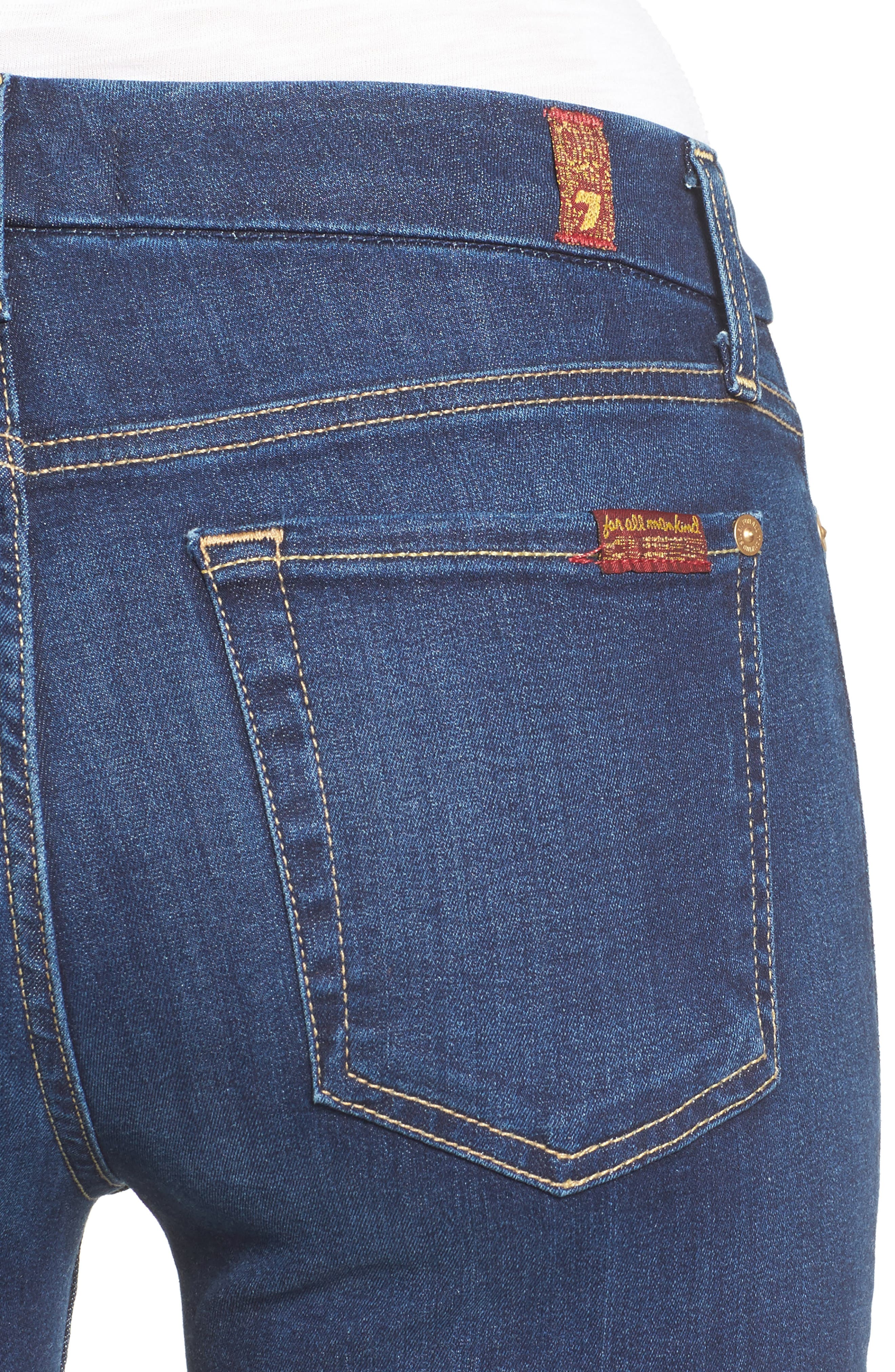 7 FOR ALL MANKIND<SUP>®</SUP>, 'b(air) - The Ankle' Skinny Jeans, Alternate thumbnail 5, color, 400