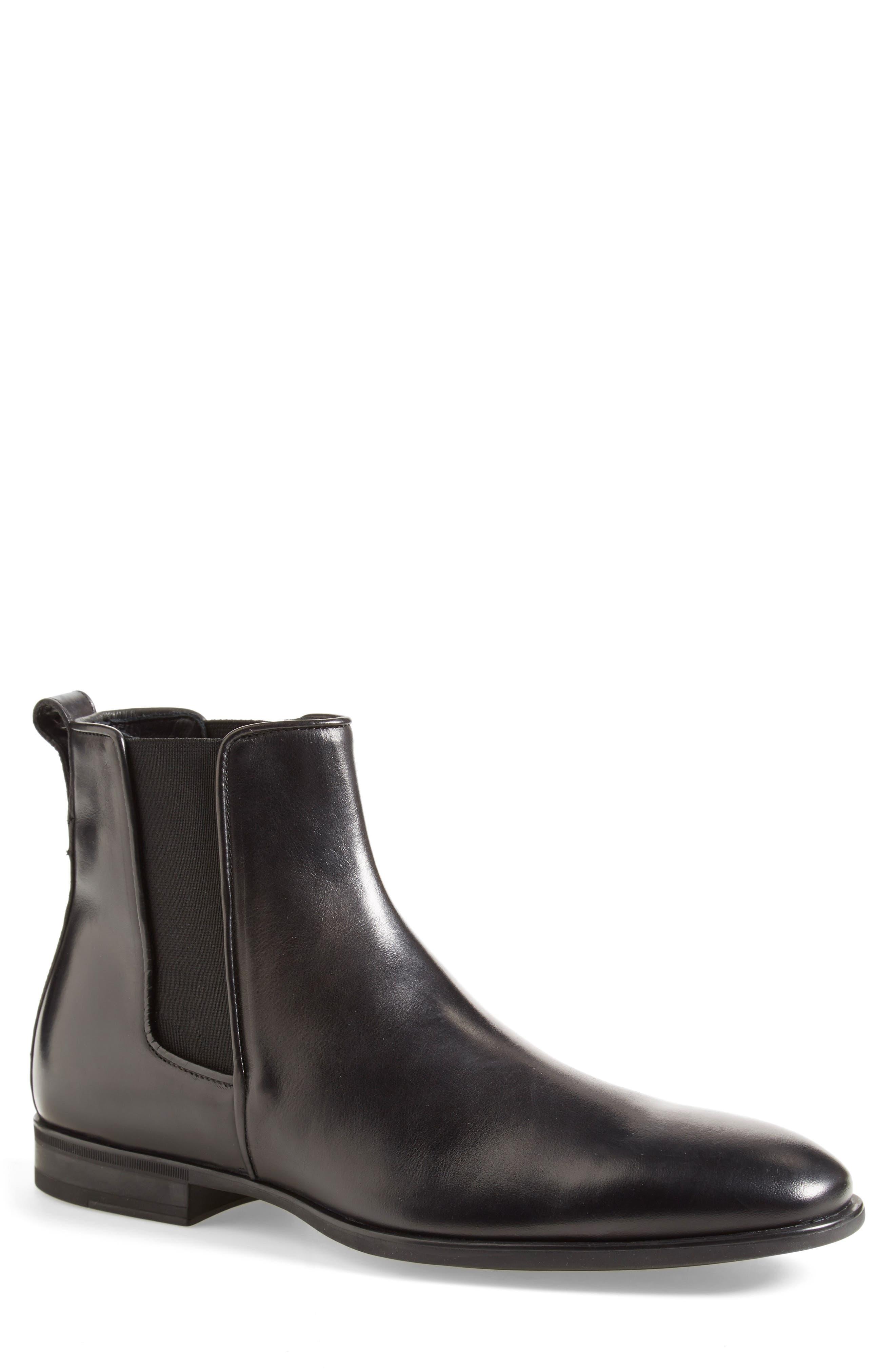 AQUATALIA, 'Adrian' Water Resistant Chelsea Boot, Alternate thumbnail 7, color, BLACK/ BLACK