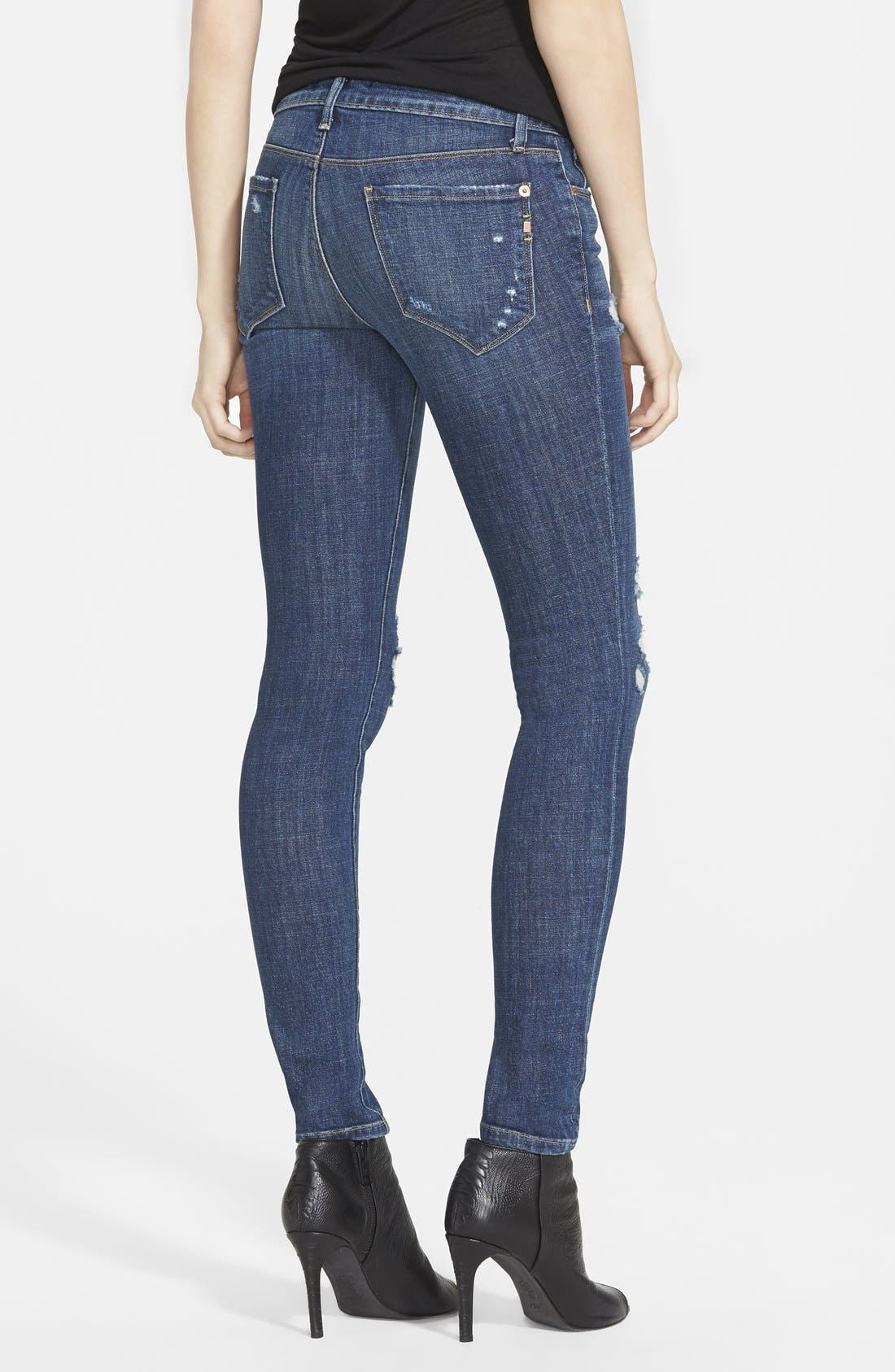 GENETIC, 'Shya' Skinny Jeans, Alternate thumbnail 2, color, 421