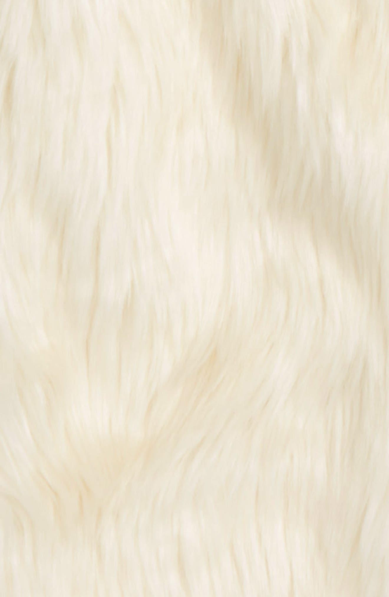 BARDOT JUNIOR, Faux Fur Jacket, Alternate thumbnail 2, color, 102