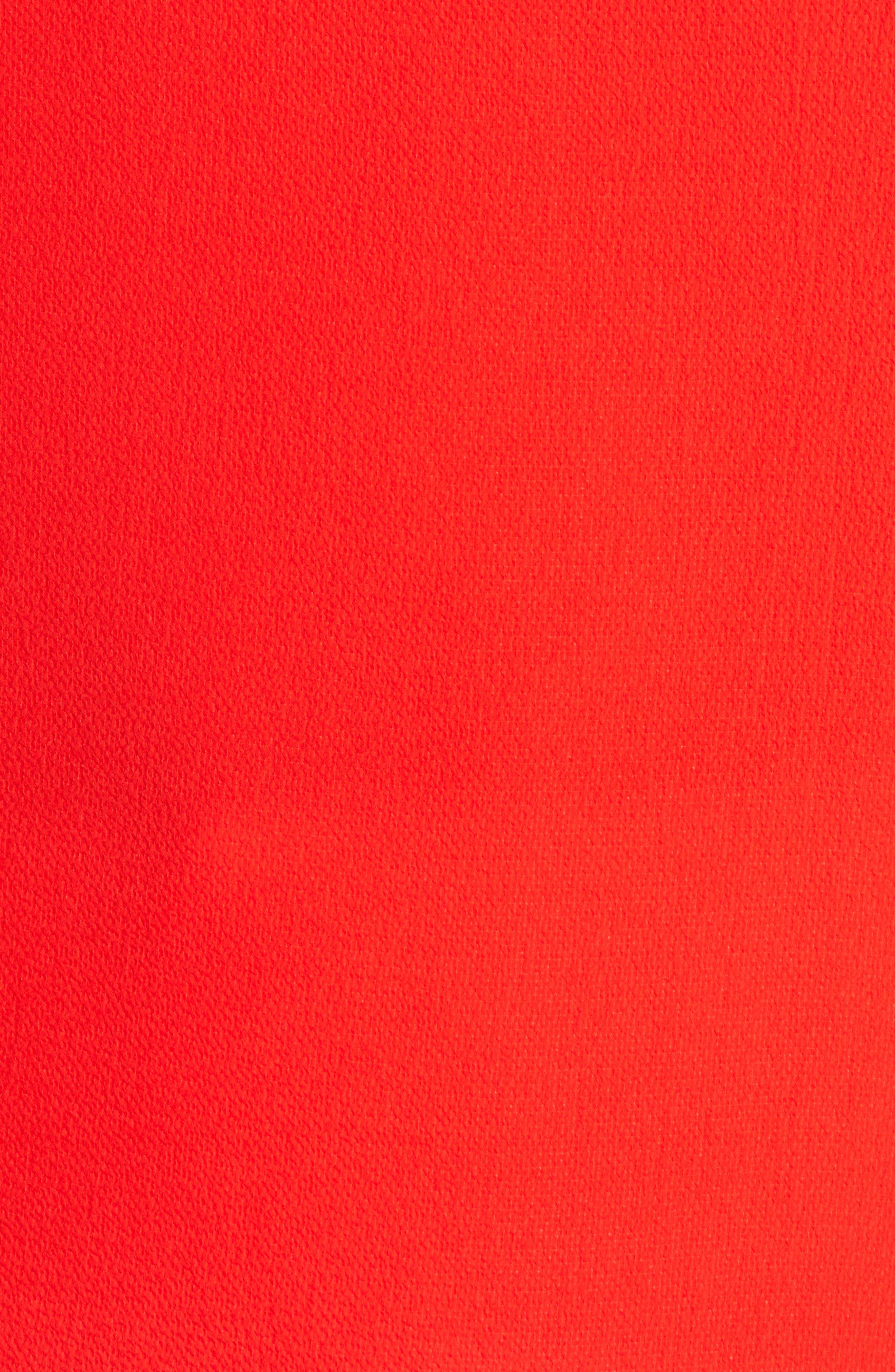 CECE, Tie Sleeve Blouse, Alternate thumbnail 5, color, SCARLET GLOW