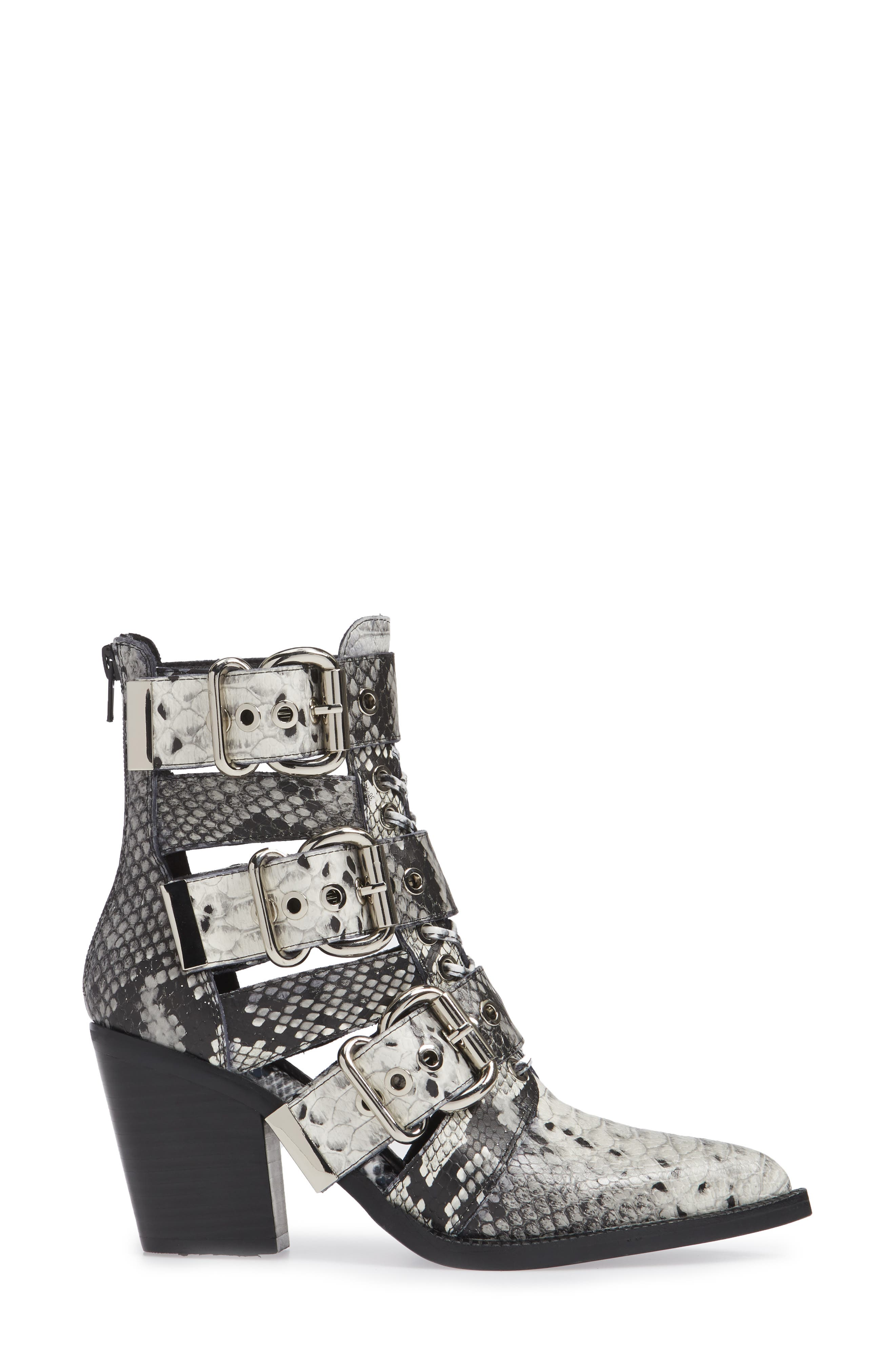 JEFFREY CAMPBELL, Caceres Bootie, Alternate thumbnail 3, color, 001