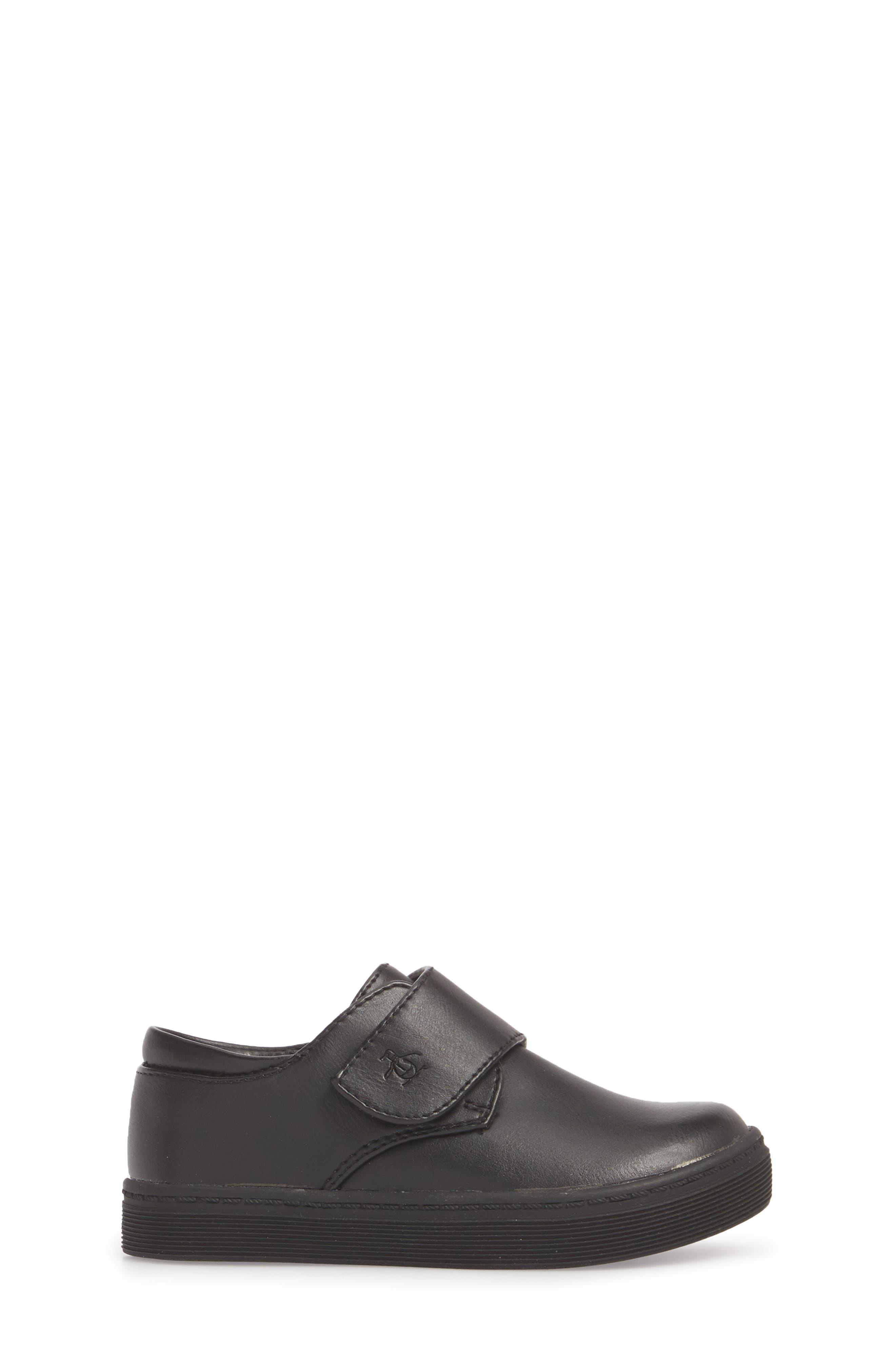 ORIGINAL PENGUIN, Felton Sneaker, Alternate thumbnail 3, color, BLACK/ BLACK