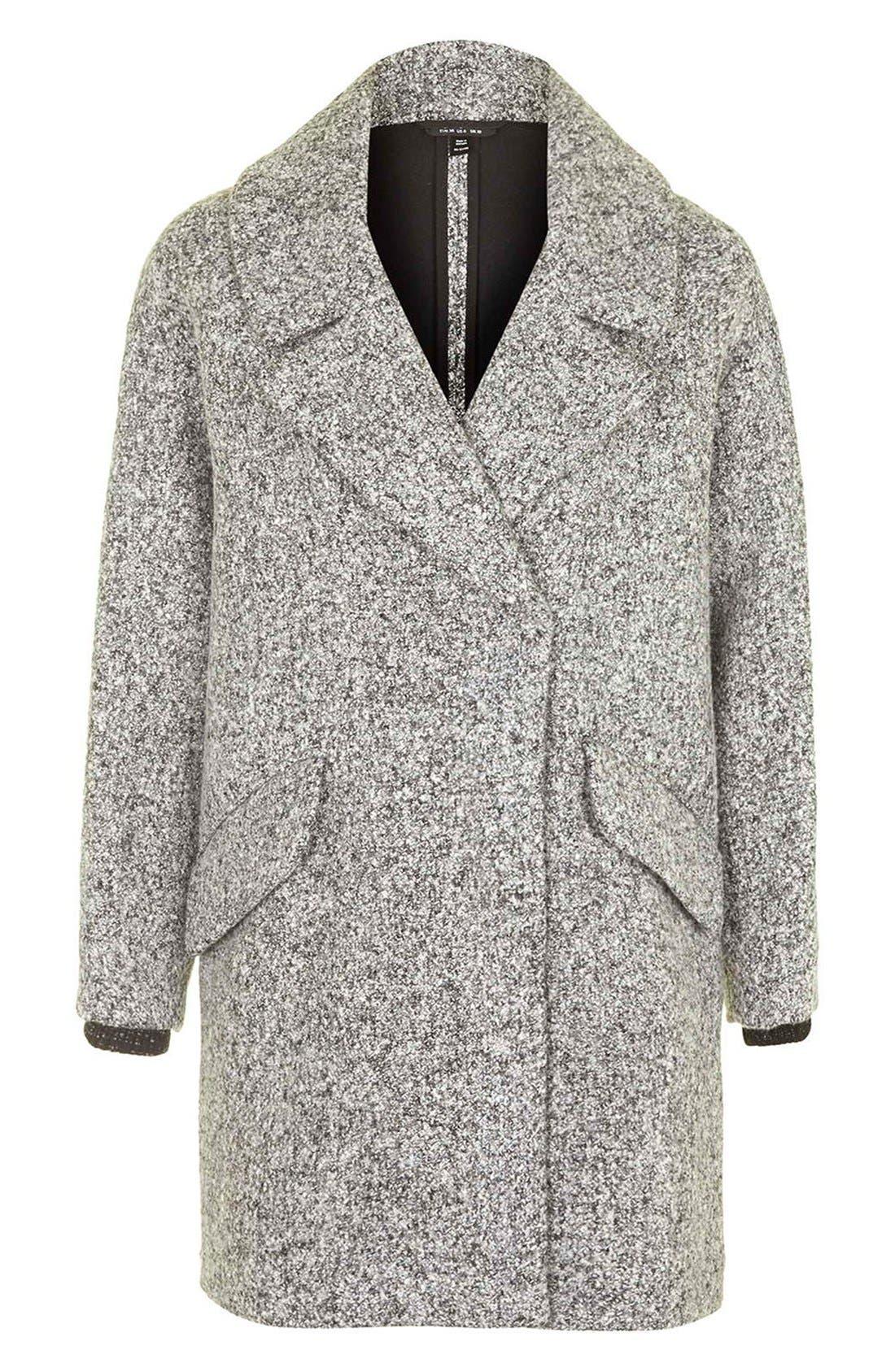 TOPSHOP, 'Amelia' Slouch Coat, Alternate thumbnail 2, color, 020