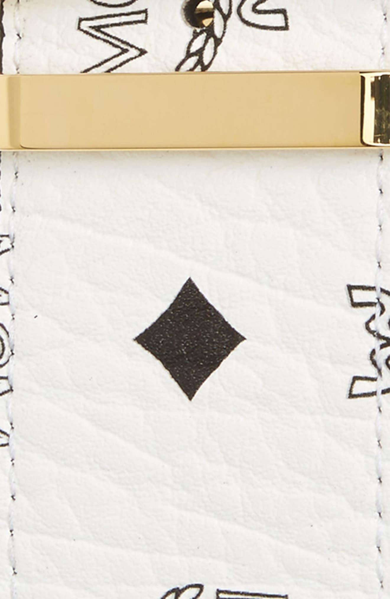 MCM, Reversible Signature Leather Belt, Alternate thumbnail 3, color, 100