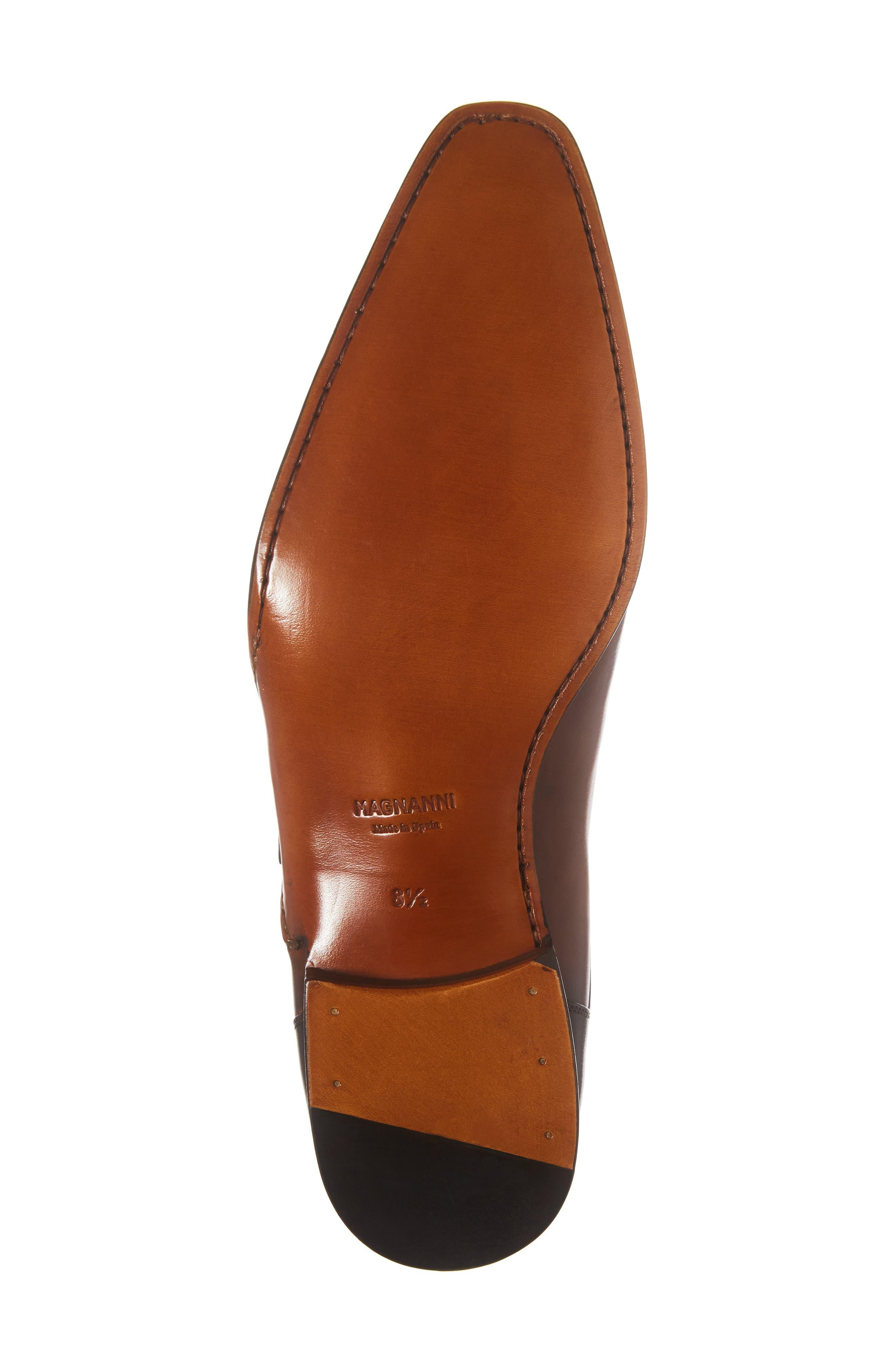 MAGNANNI, Ondara Double Monk Strap Shoe, Alternate thumbnail 6, color, CUERO/ BROWN LEATHER