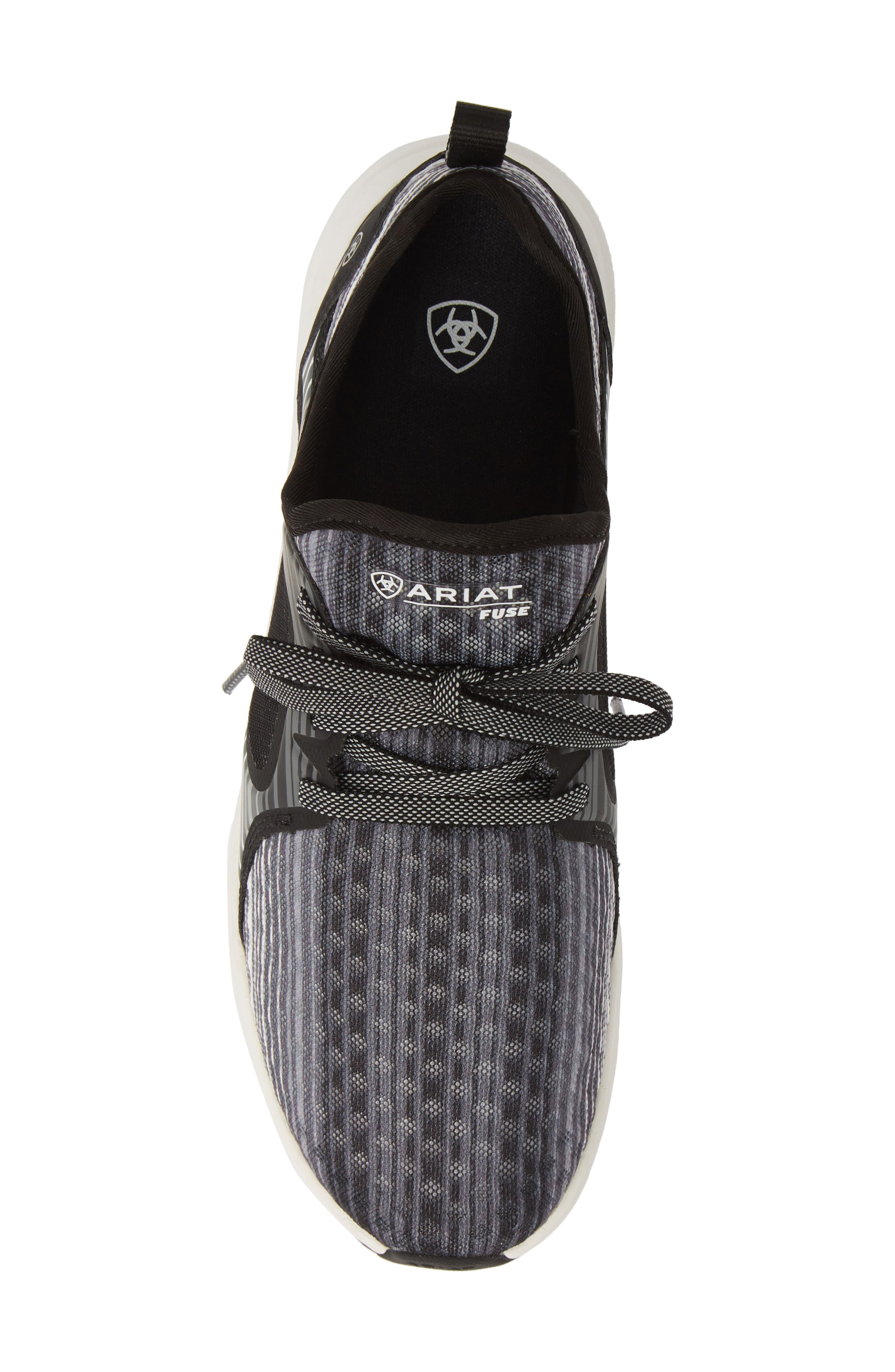 ARIAT, Fuse Print Sneaker, Alternate thumbnail 5, color, GREY STRIPE