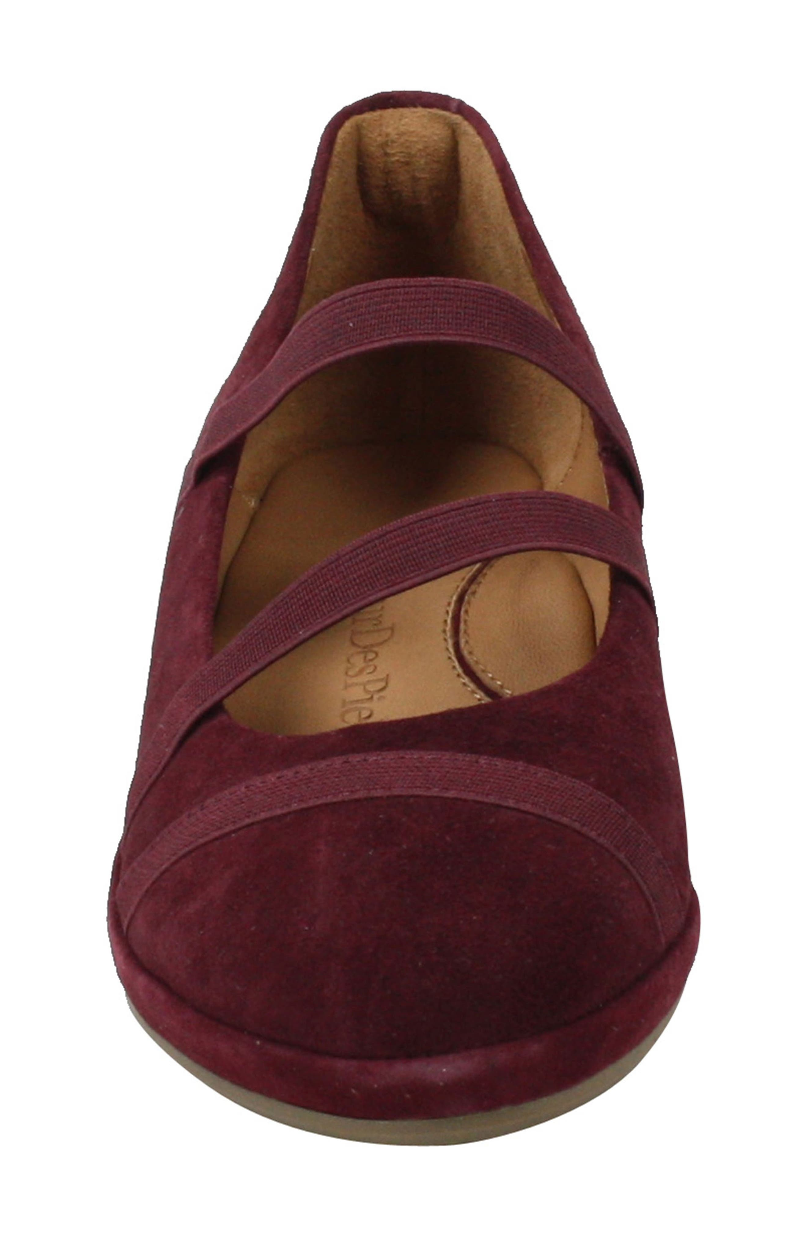 L'AMOUR DES PIEDS, Berency Wedge, Alternate thumbnail 4, color, MULBERRY SUEDE