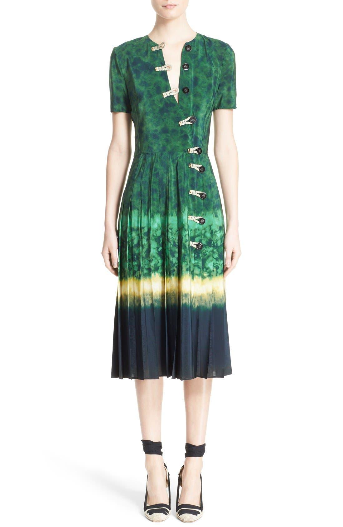 ALTUZARRA 'Ilari' Rope Closure Dip Dye Dress, Main, color, 340