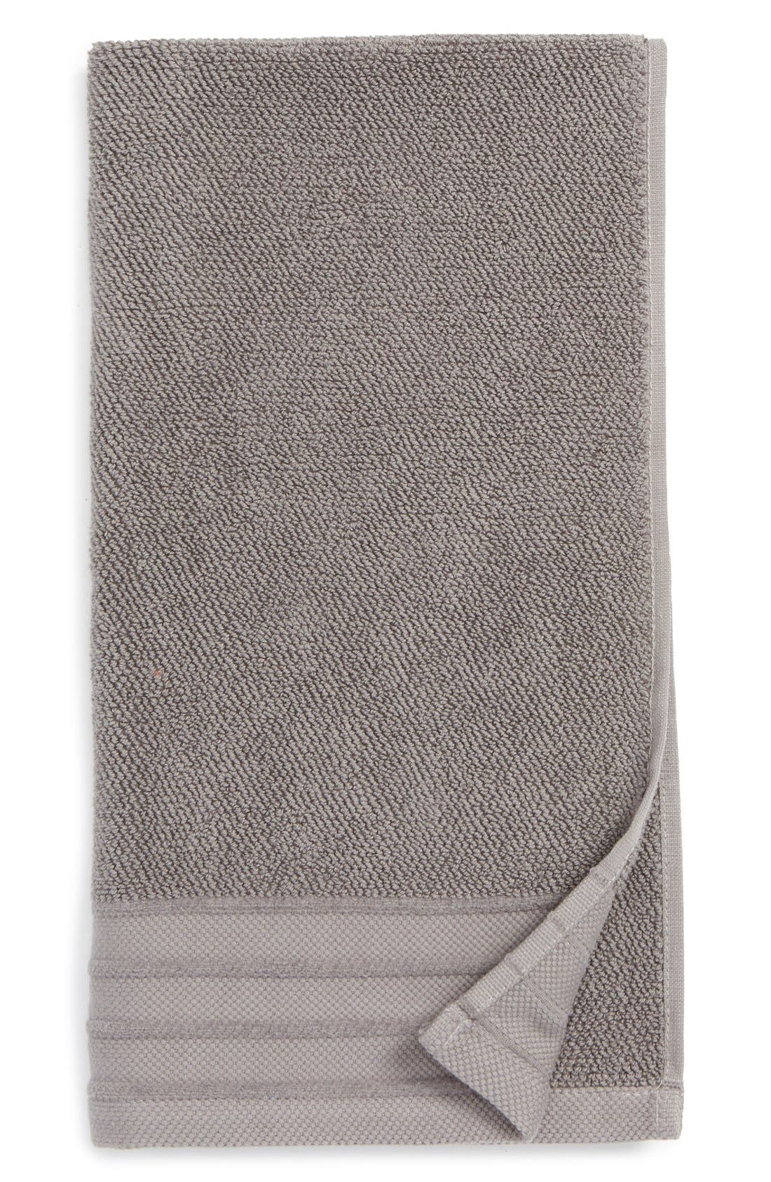 UGG<SUP>®</SUP>, Classic Luxe Hand Towel, Main thumbnail 1, color, GRANITE