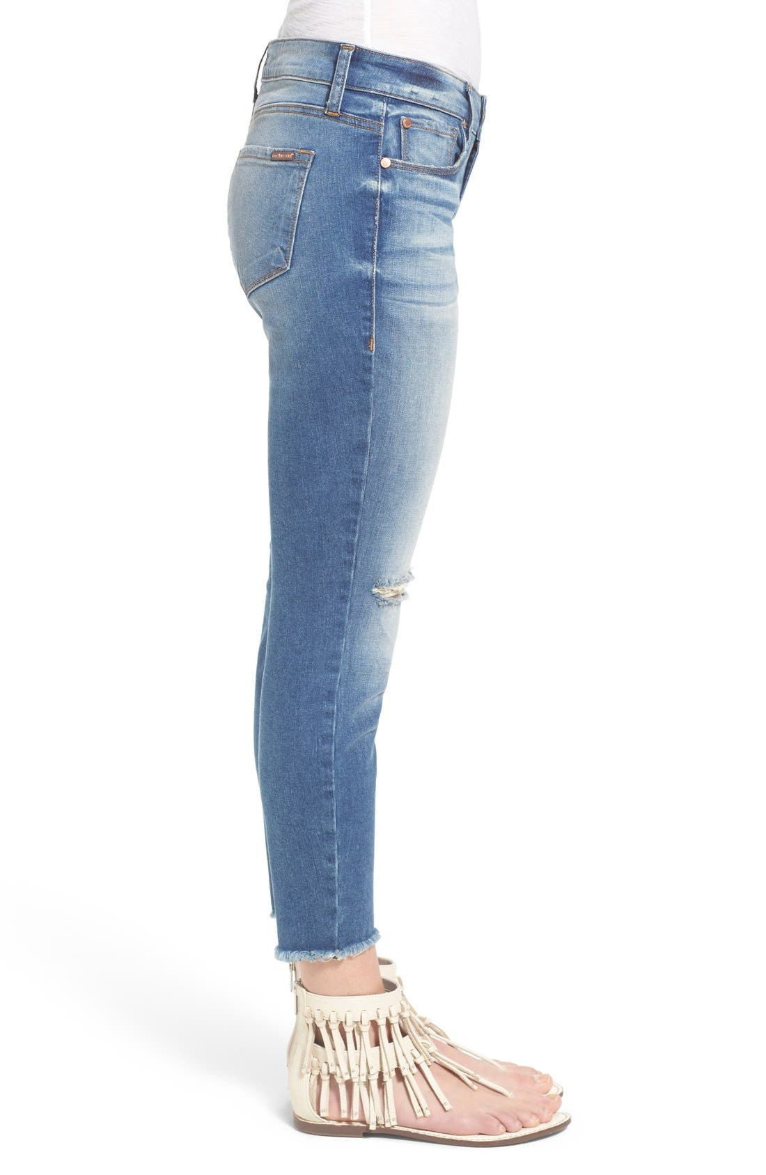 STS BLUE, Crop Raw Hem Skinny Jeans, Alternate thumbnail 2, color, 400