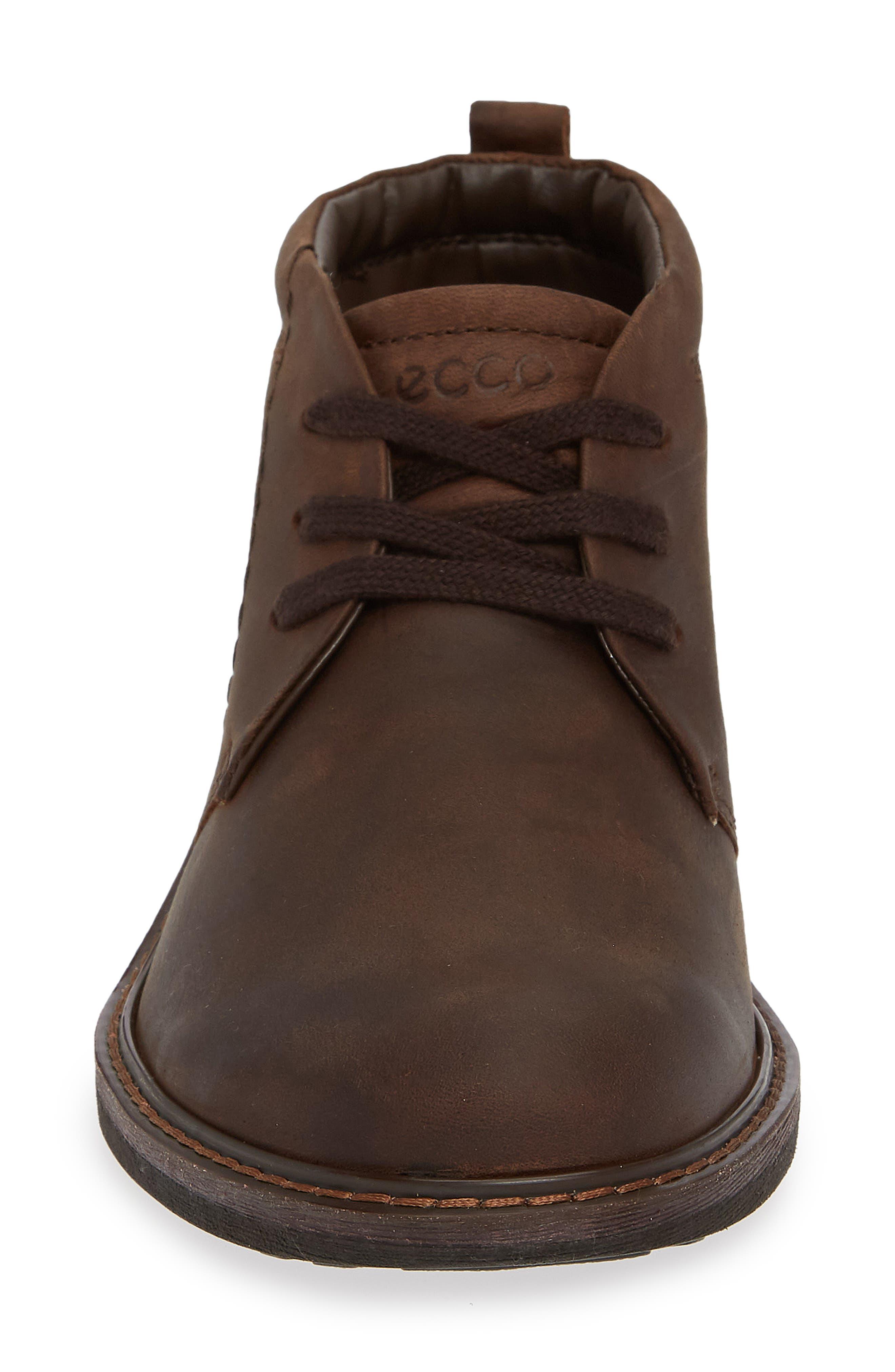ECCO, Turn Gore-Tex<sup>®</sup> Waterproof Chukka Boot, Alternate thumbnail 4, color, COCOA BROWN