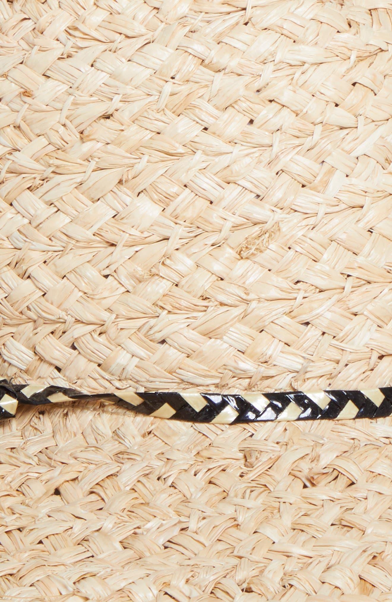 GIGI BURRIS MILLINERY, Pacific Straw Hat, Alternate thumbnail 2, color, NATURAL/ BLACK