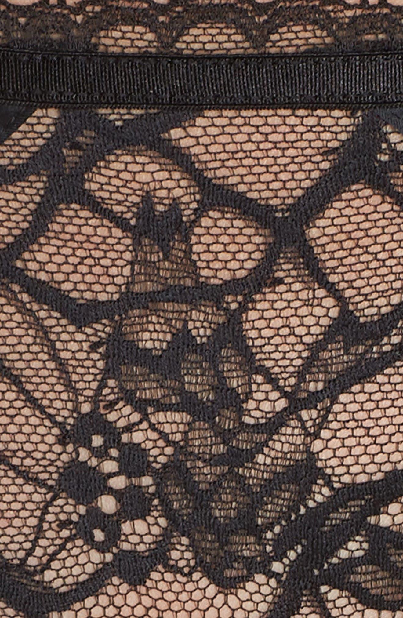 CHANTELLE LINGERIE, Segur Lace Hipster Briefs, Alternate thumbnail 5, color, BLACK