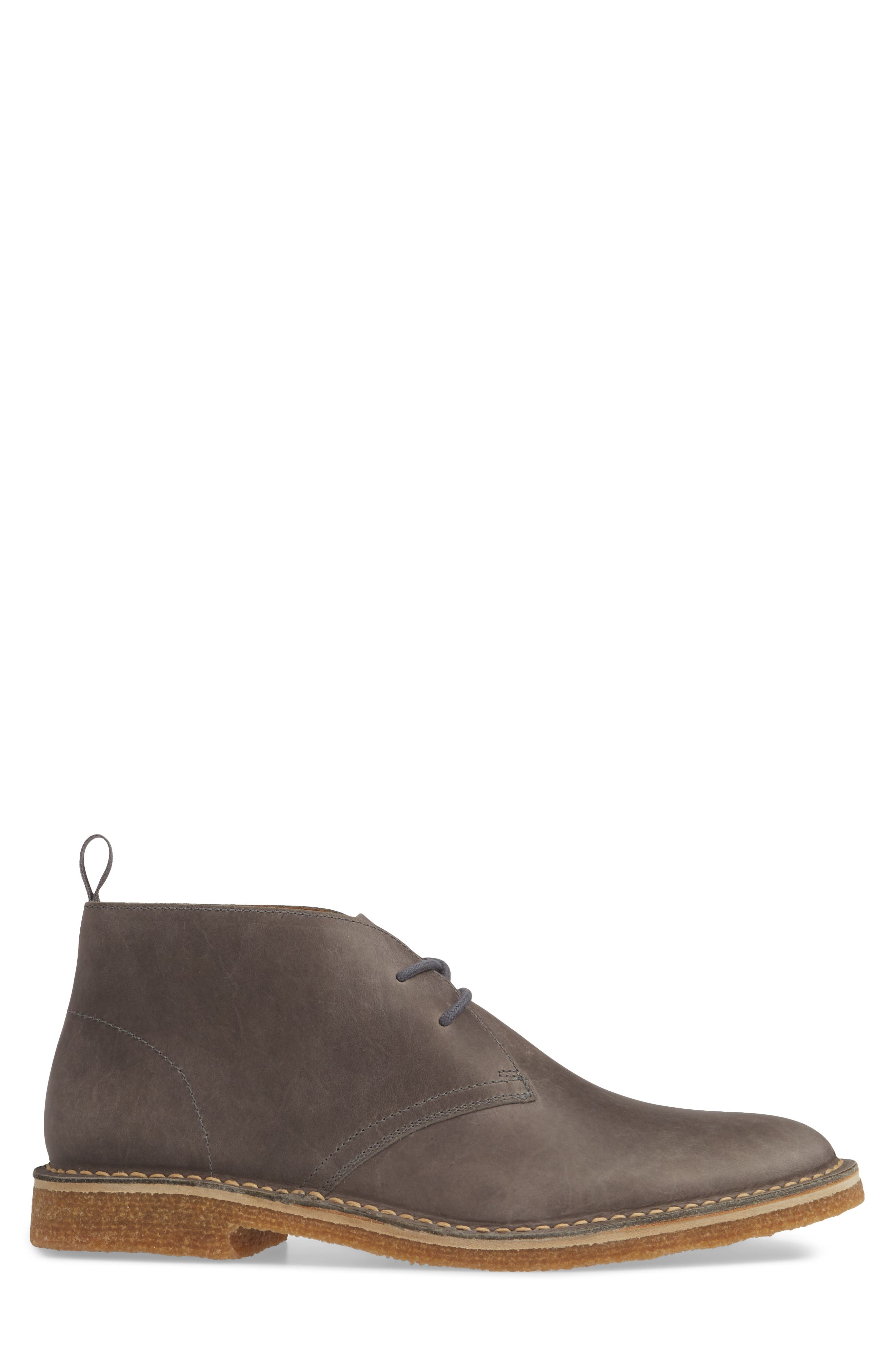1901, Hudson Chukka Boot, Alternate thumbnail 3, color, GREY LEATHER