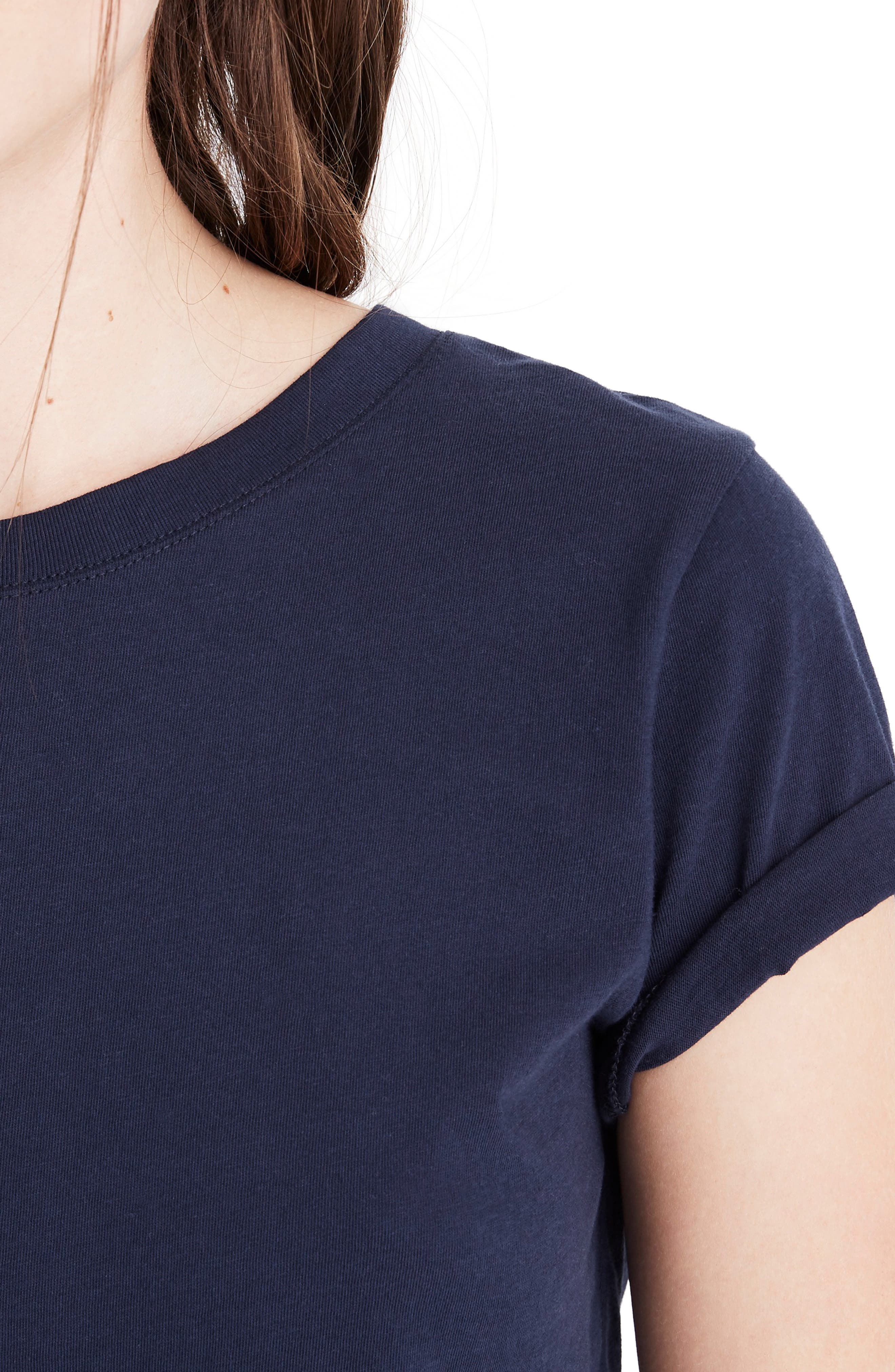 MADEWELL, Northside Vintage Tee, Alternate thumbnail 4, color, JUNIPER BERRY