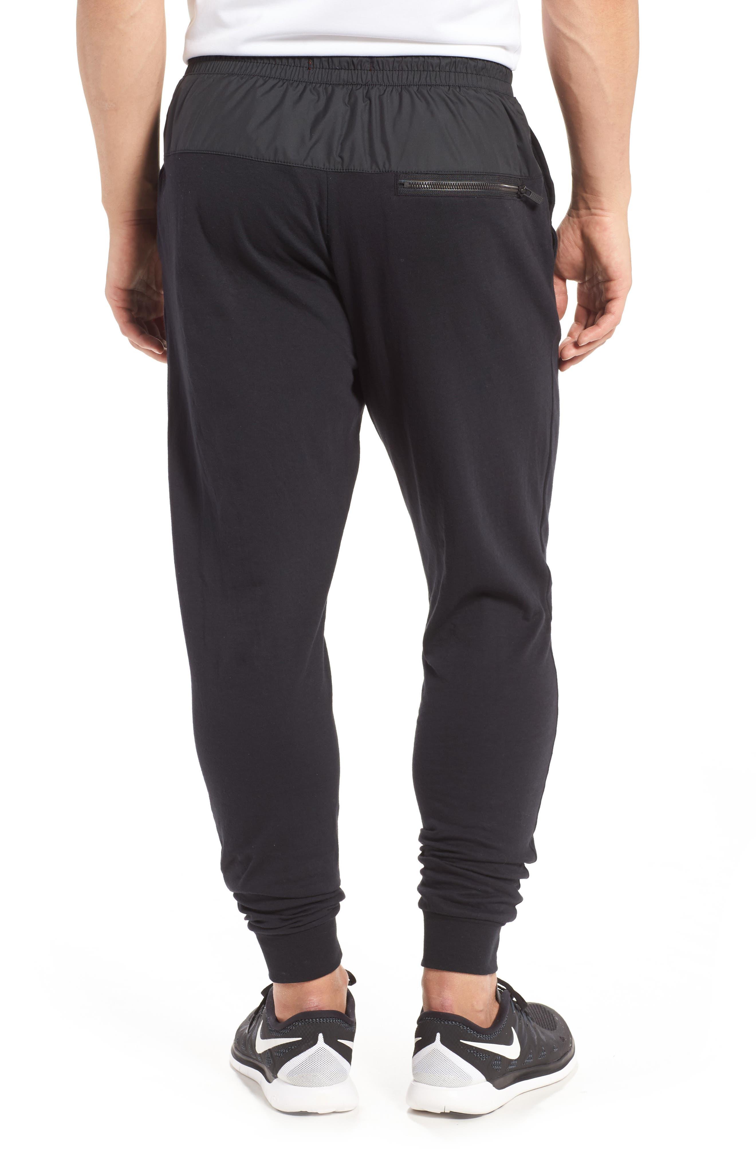 NIKE, Modern Jogger Pants, Alternate thumbnail 2, color, BLACK/ BLACK