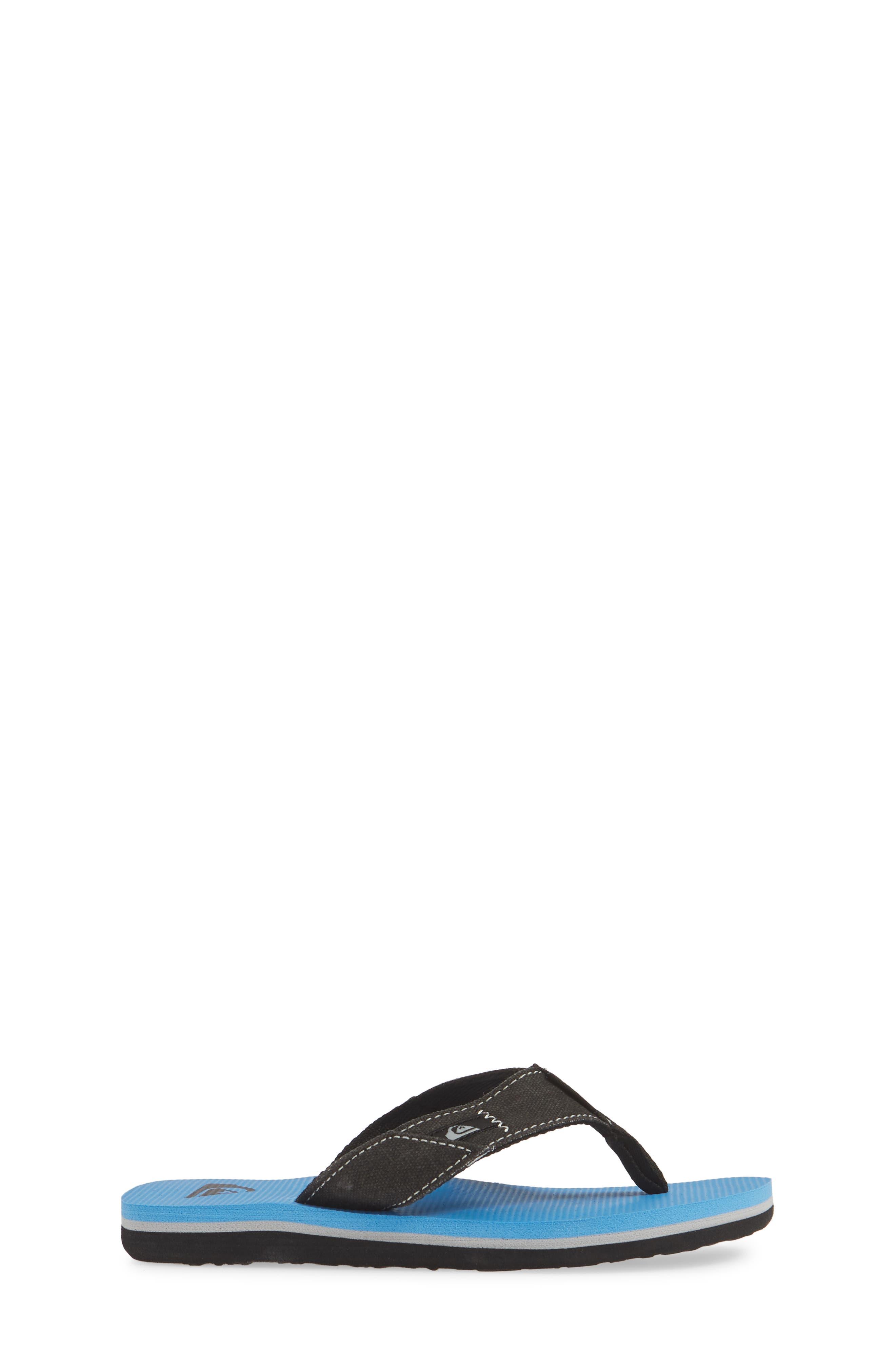 QUIKSILVER, Molokai Abyss Flip Flop, Alternate thumbnail 3, color, BLACK/ BLUE/ BLACK