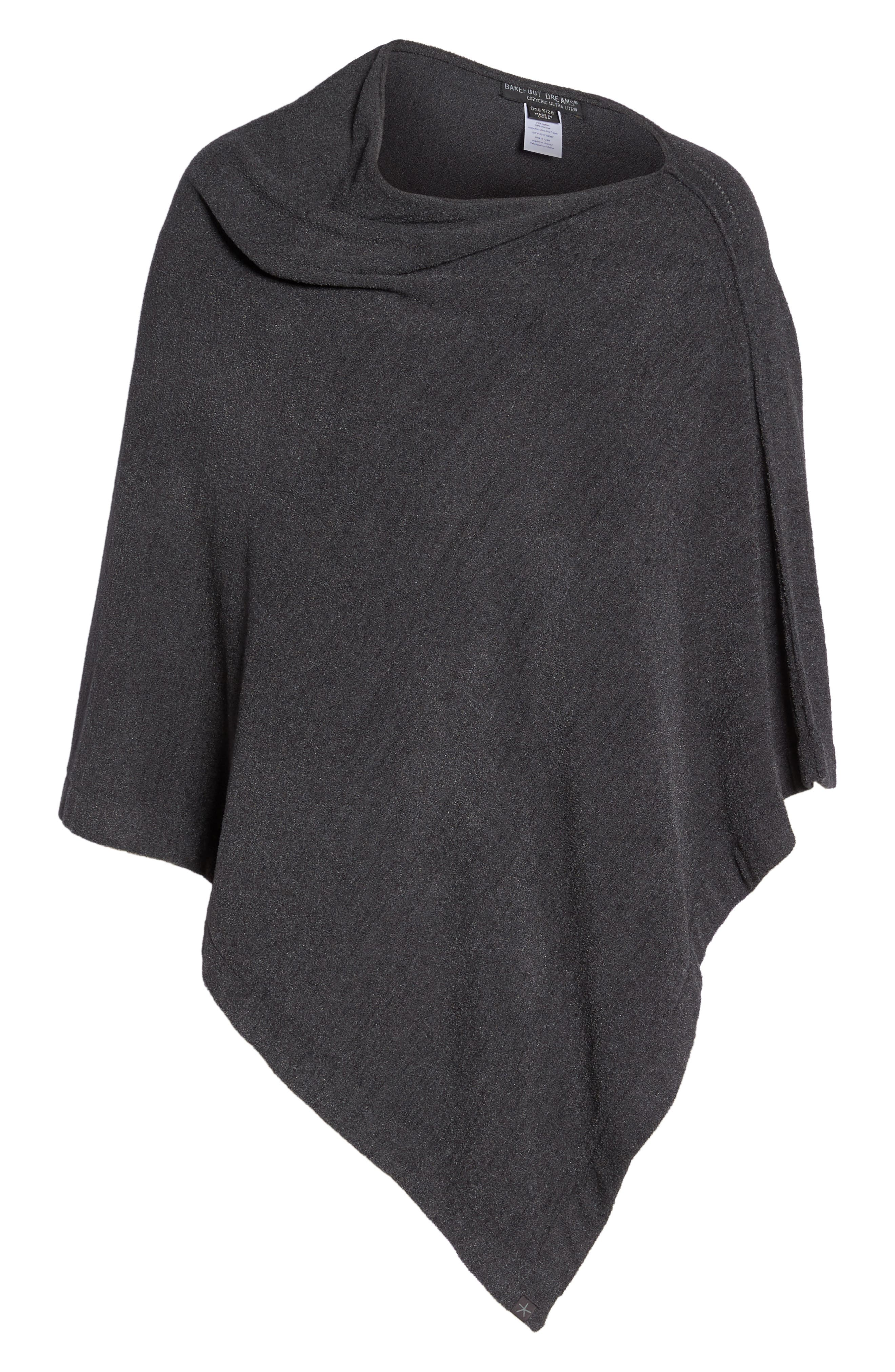 BAREFOOT DREAMS<SUP>®</SUP>, CozyChic Ultra Lite<sup>®</sup> Poncho, Alternate thumbnail 6, color, 022