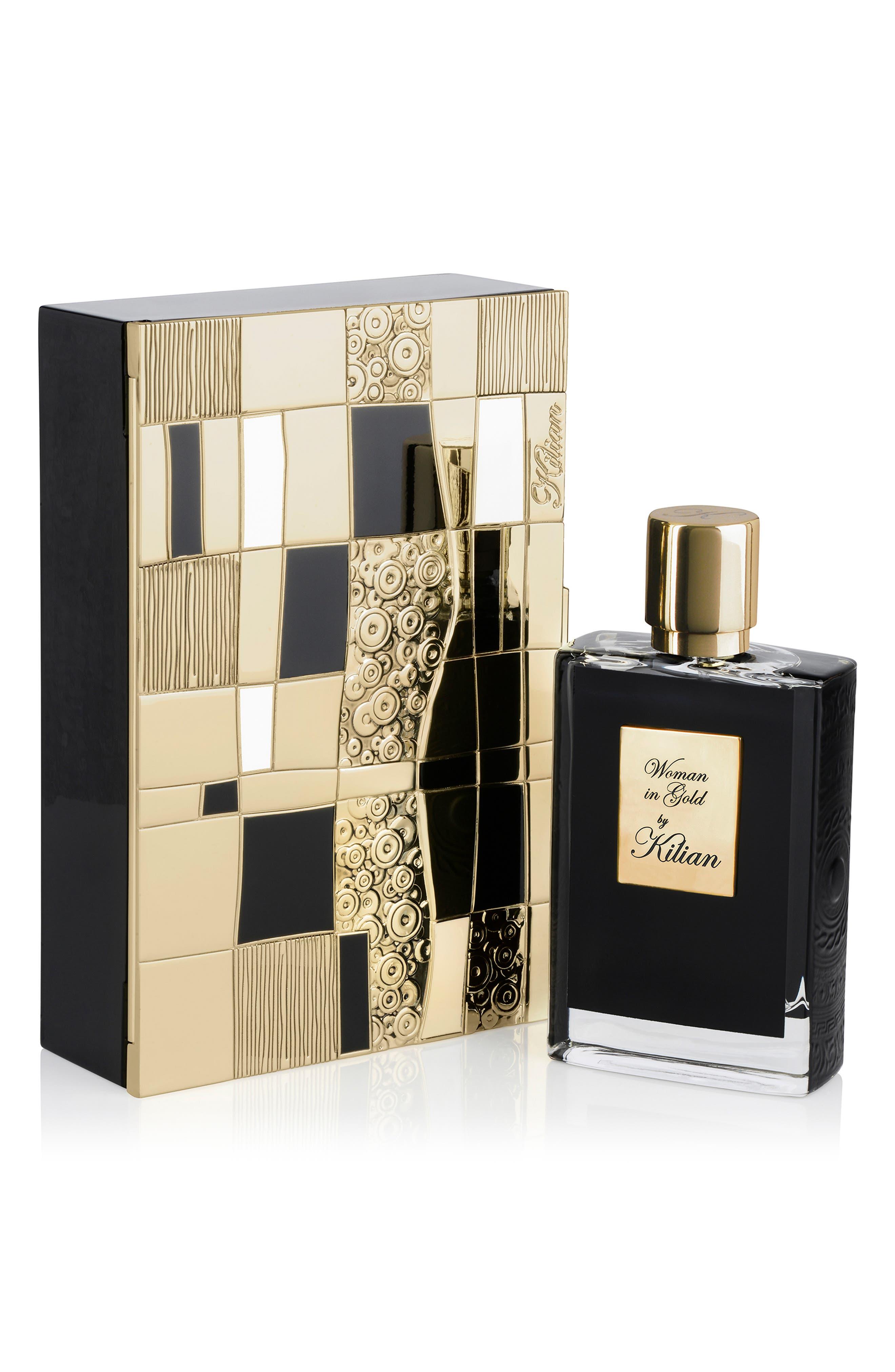 KILIAN, Woman in Gold Collector's Edition Refillable Perfume Spray, Alternate thumbnail 2, color, NO COLOR