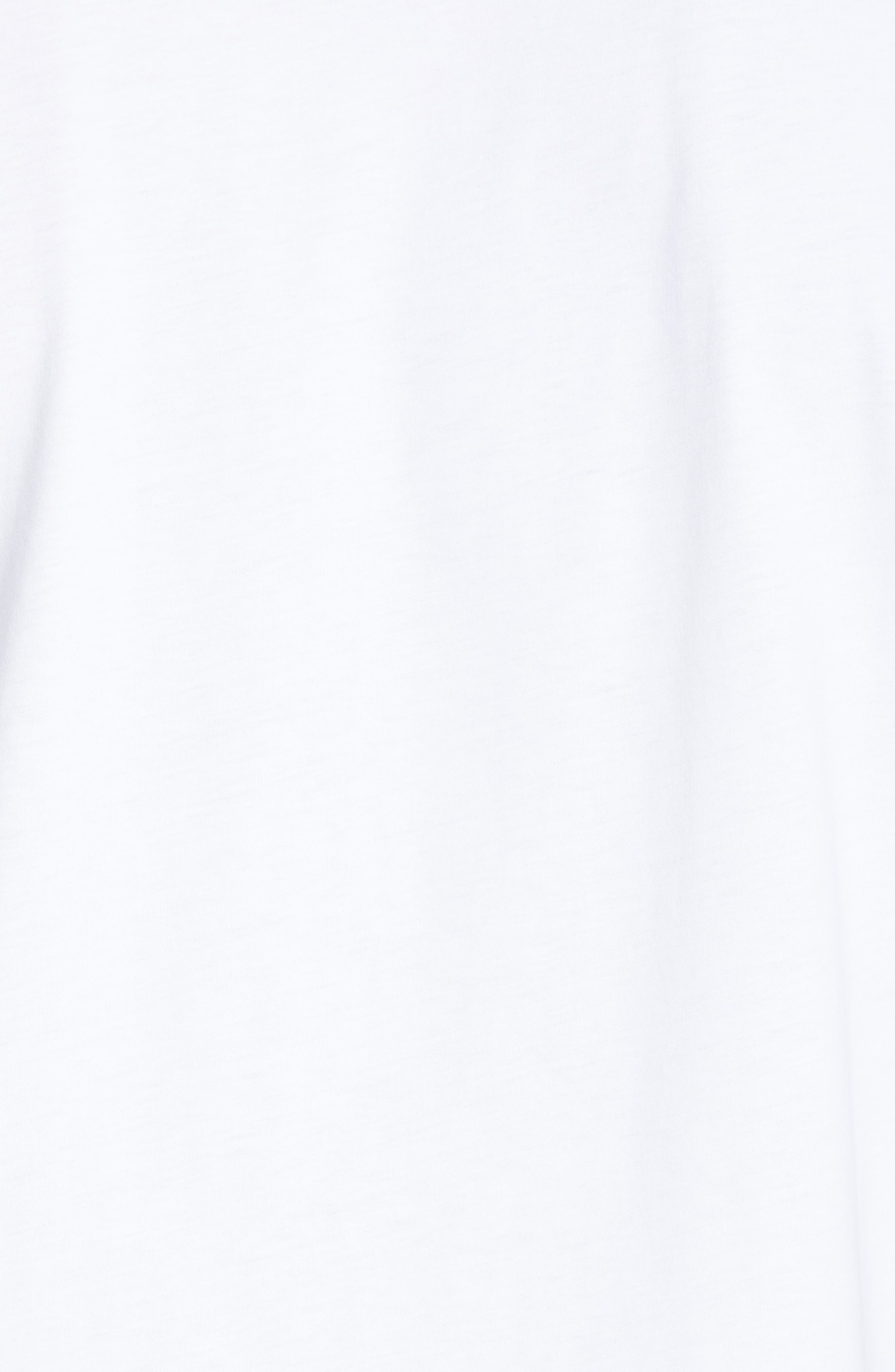 HELMUT LANG, World Turns Graphic T-Shirt, Alternate thumbnail 5, color, CHALK WHITE