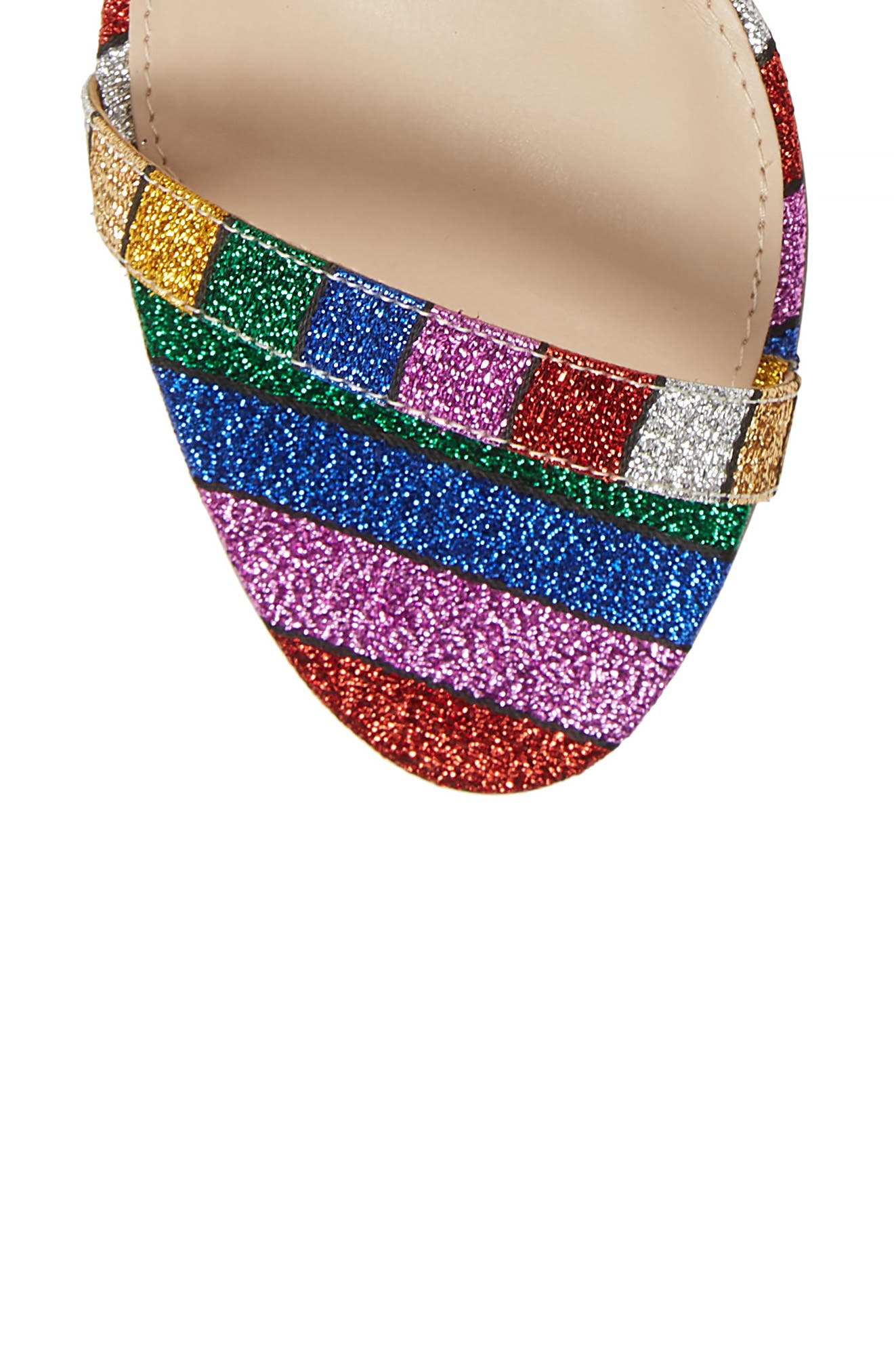 NINA, Vanna Ankle Strap Sandal, Alternate thumbnail 5, color, RAINBOW MULTI FABRIC