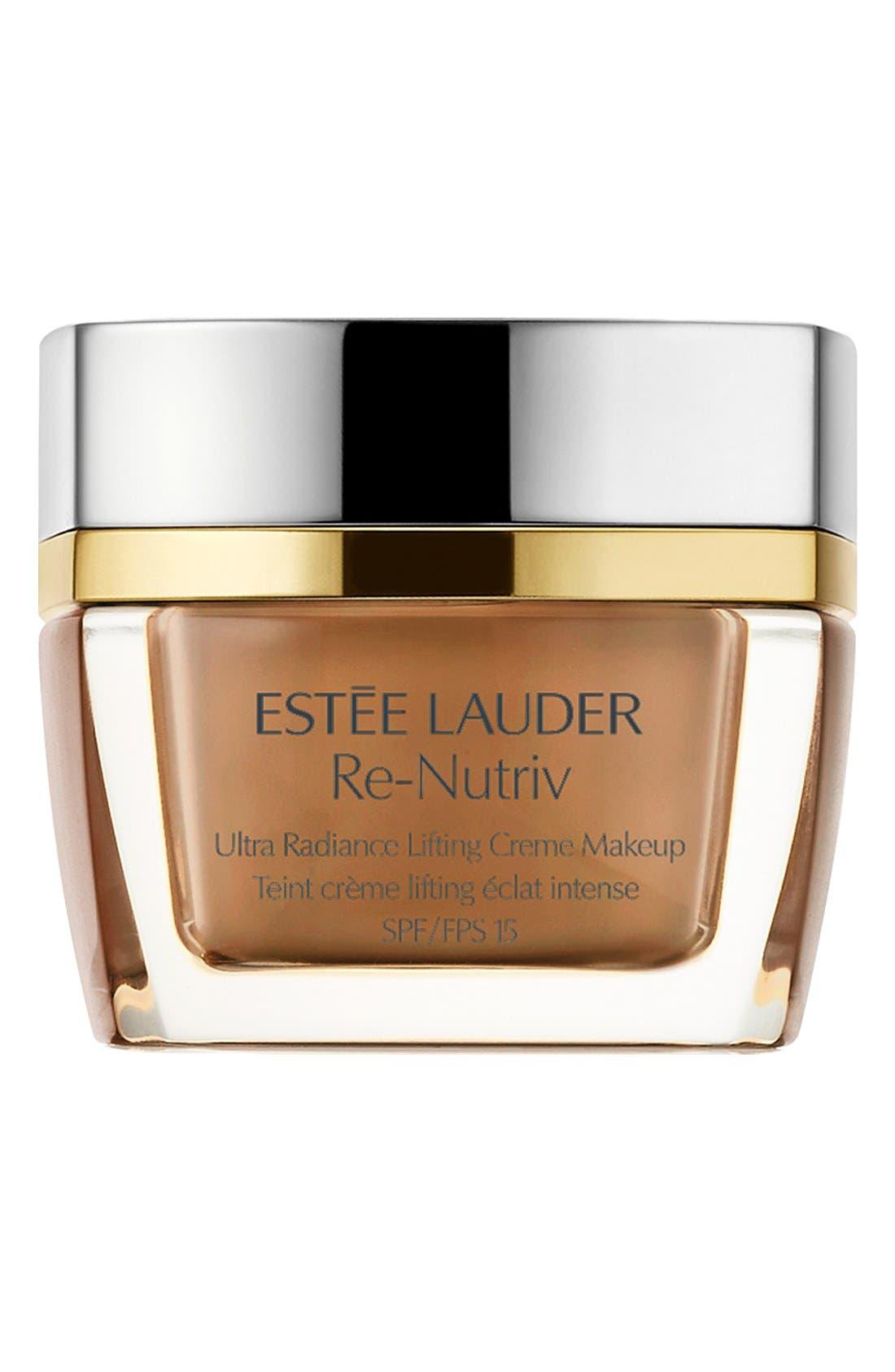 ESTÉE LAUDER, Re-Nutriv Ultra Radiance Lifting Crème Makeup, Main thumbnail 1, color, SOFT TAN 4C3
