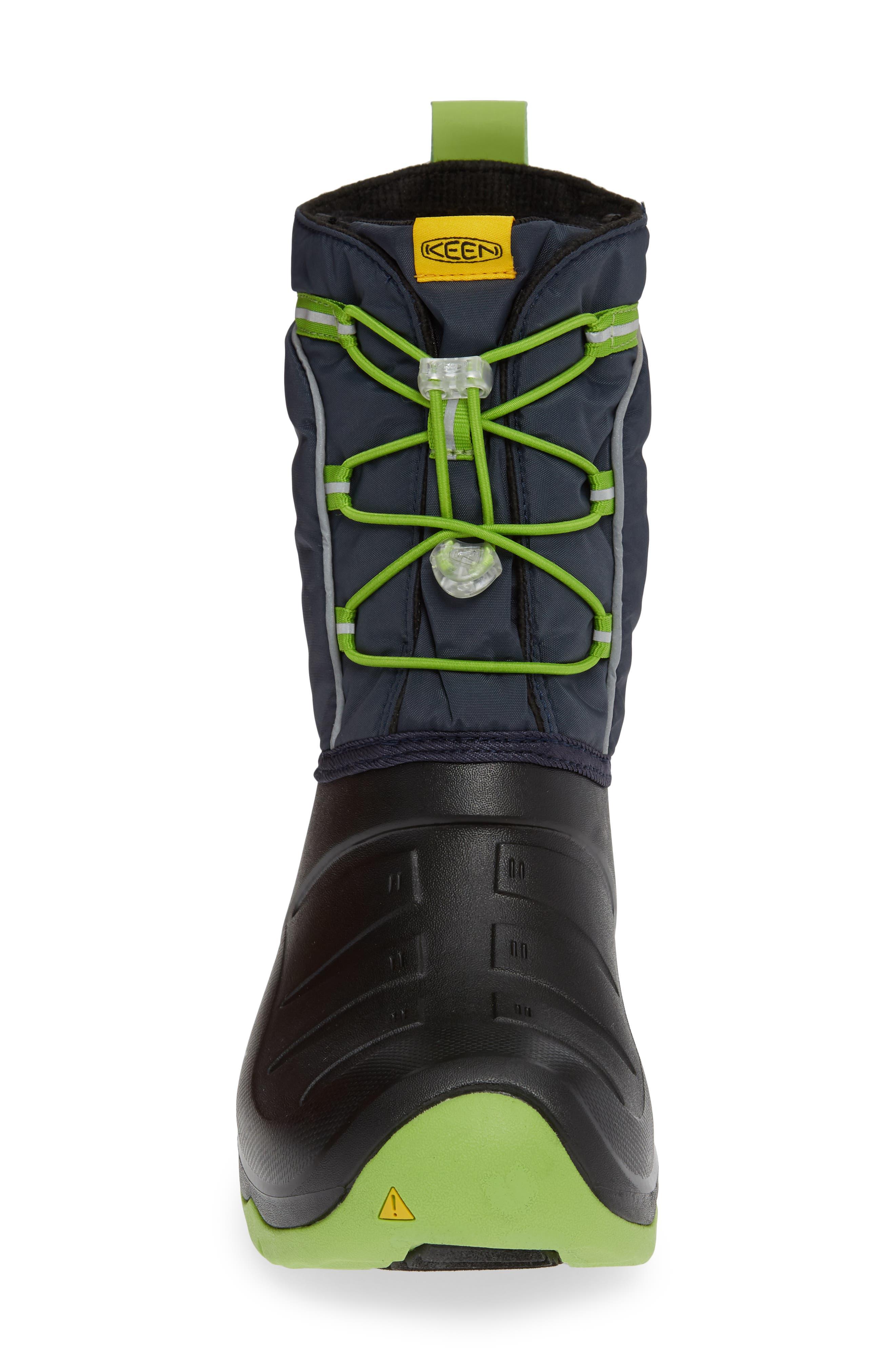 KEEN, Lumi Waterproof Boot, Alternate thumbnail 4, color, BLUE/ GREENERY