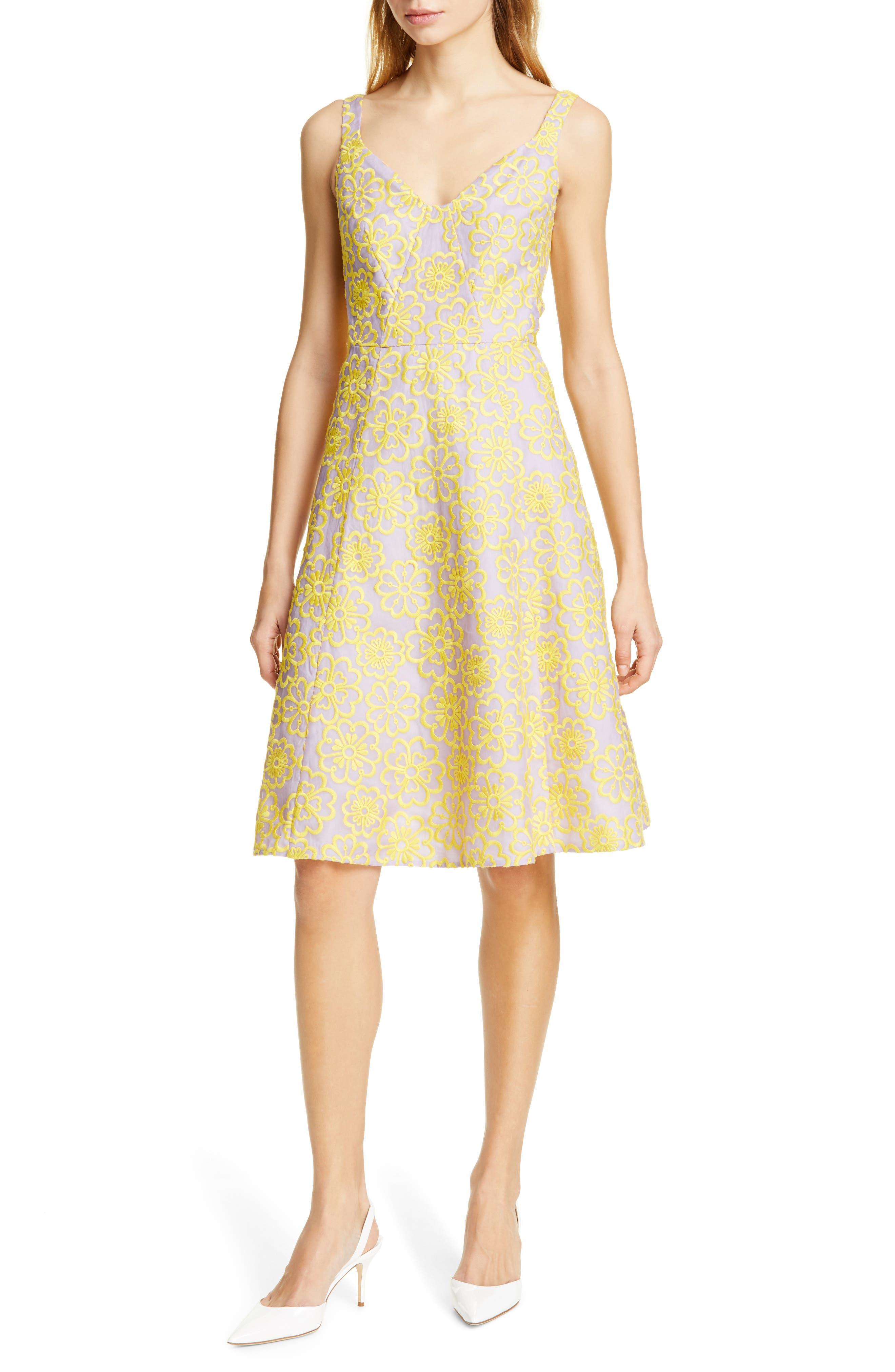 Kate Spade New York Floral Silk Sundress, Yellow