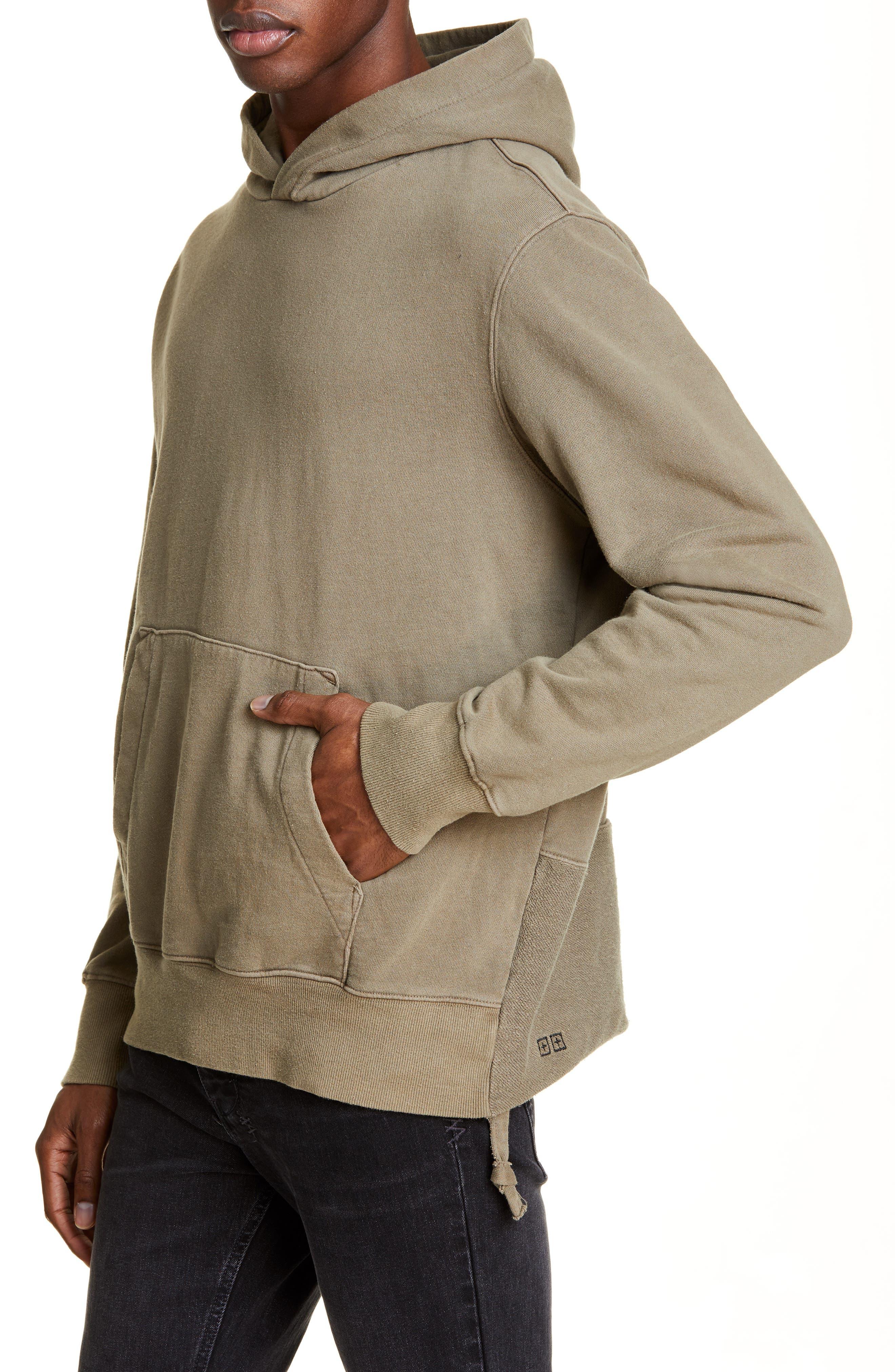 KSUBI, Seeing Lines Hooded Sweatshirt, Alternate thumbnail 4, color, BEIGE