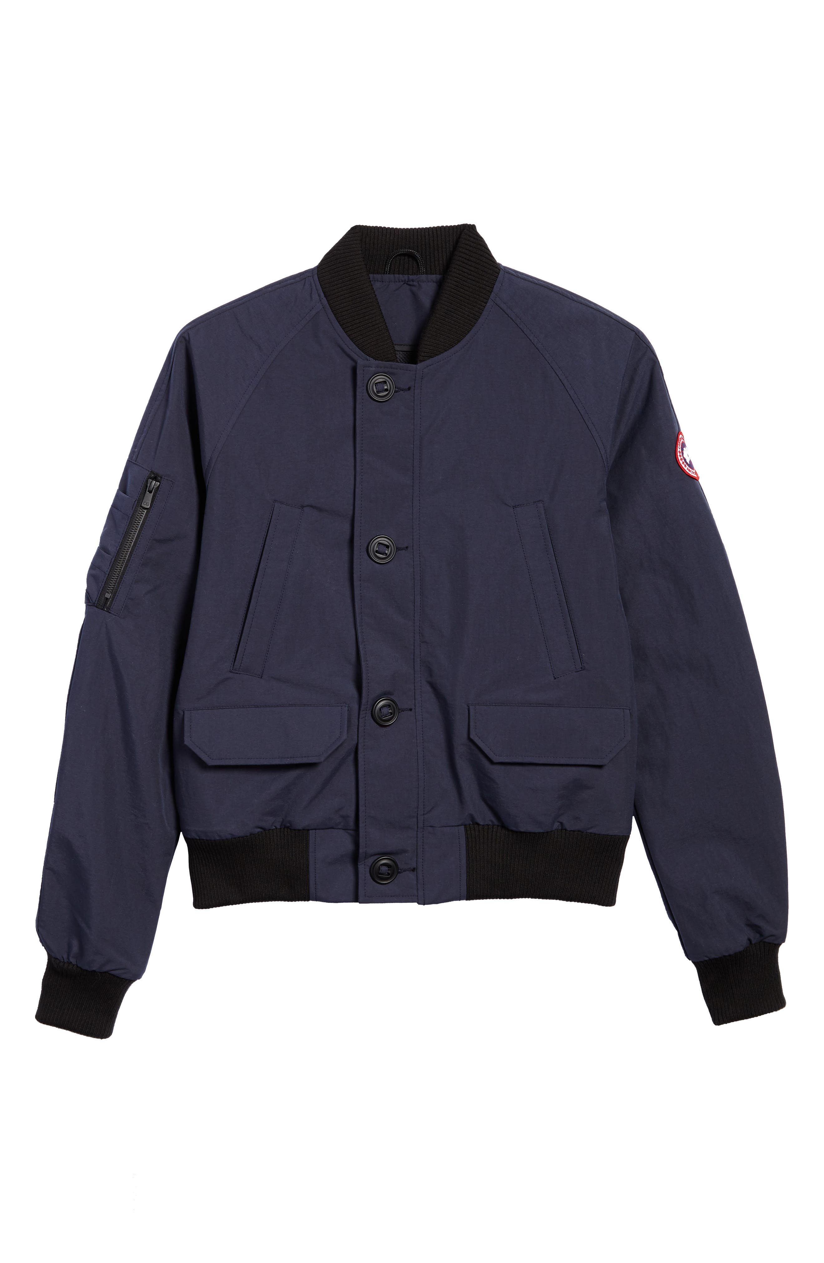 CANADA GOOSE, Faber Slim Fit Bomber Jacket, Alternate thumbnail 5, color, 400