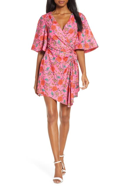 Finders Keepers Dresses HANA FLORAL SIDE RUCHED MINIDRESS