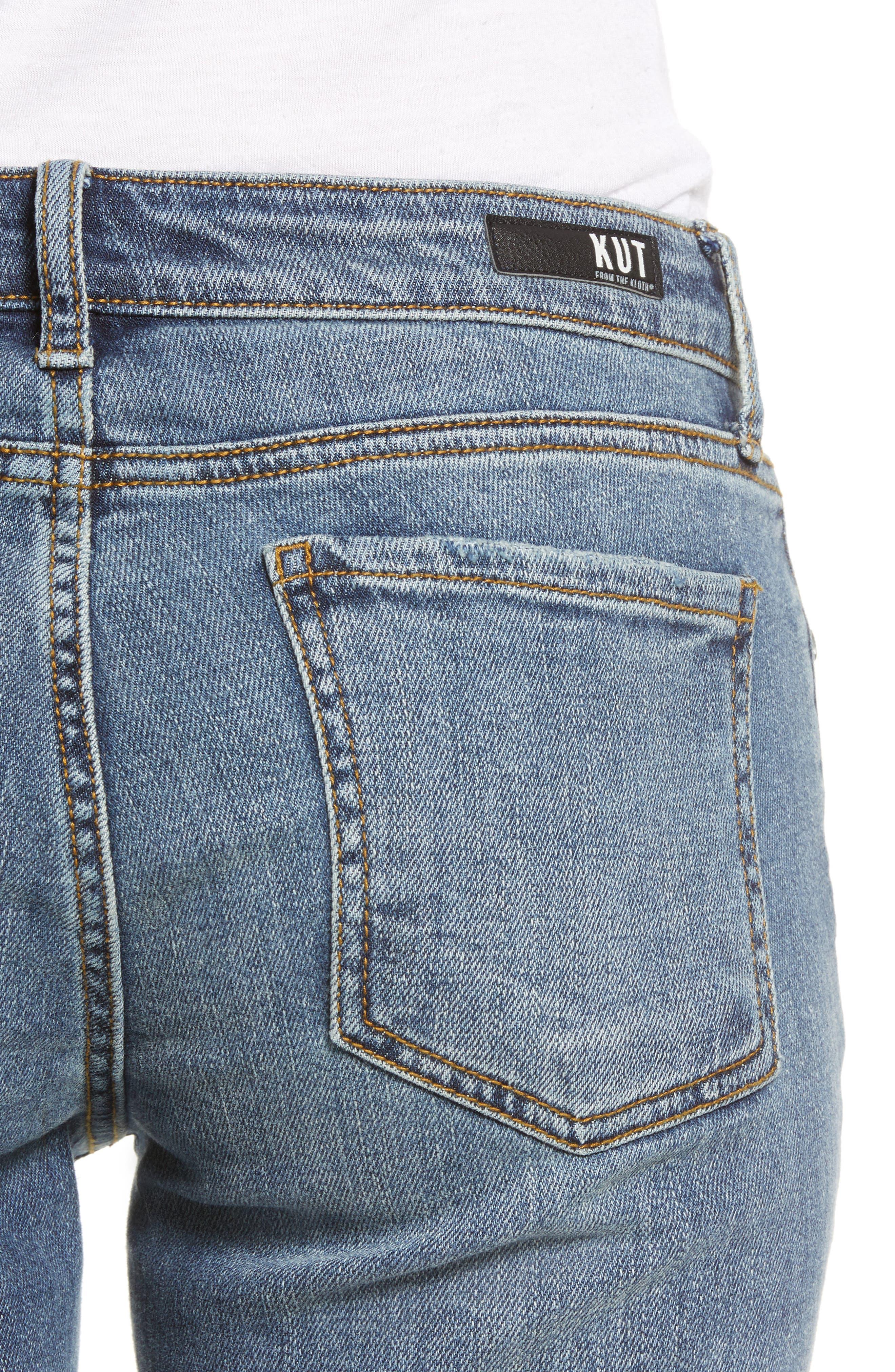KUT FROM THE KLOTH, Catherine Slim Boyfriend Jeans, Alternate thumbnail 5, color, VERSION W/ MEDIUM BASE WASH