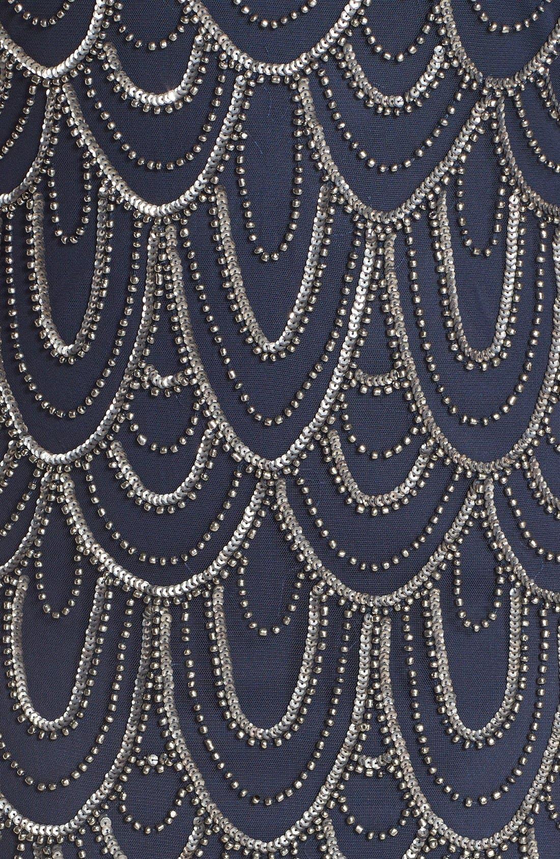 PISARRO NIGHTS, Beaded Sheath Dress, Alternate thumbnail 2, color, 410