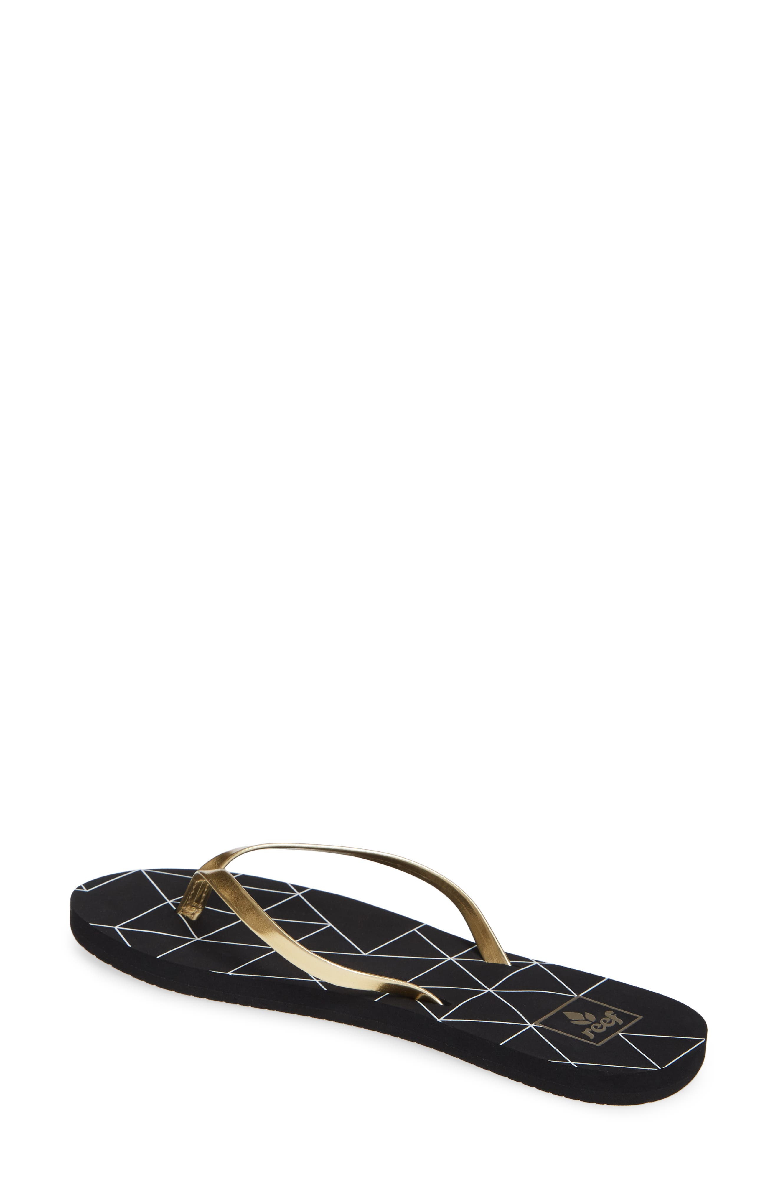 REEF, Bliss-Full Flip Flop, Alternate thumbnail 2, color, GOLD PYRAMIDS