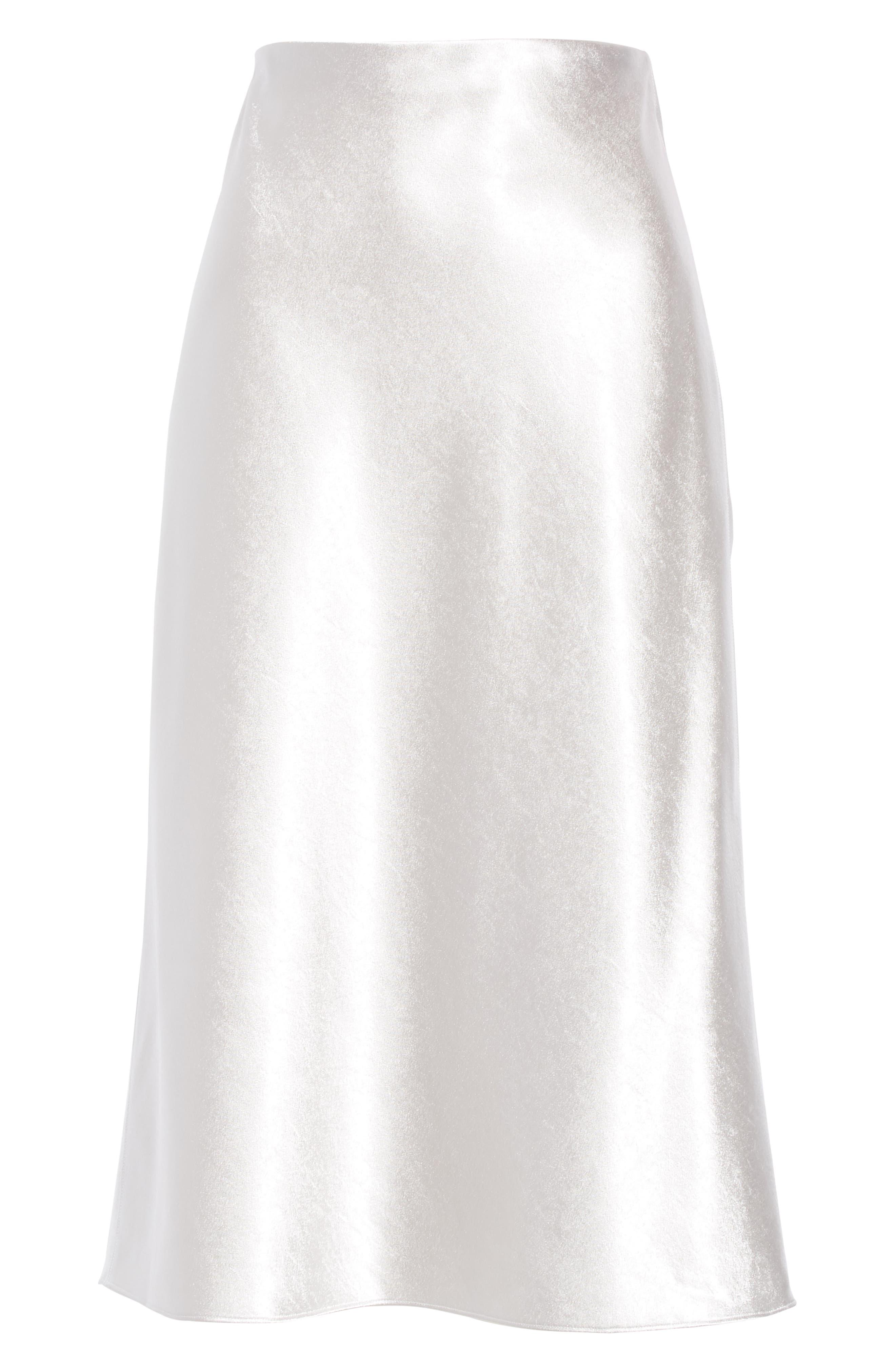 VINCE, Satin Slip Skirt, Alternate thumbnail 6, color, 043