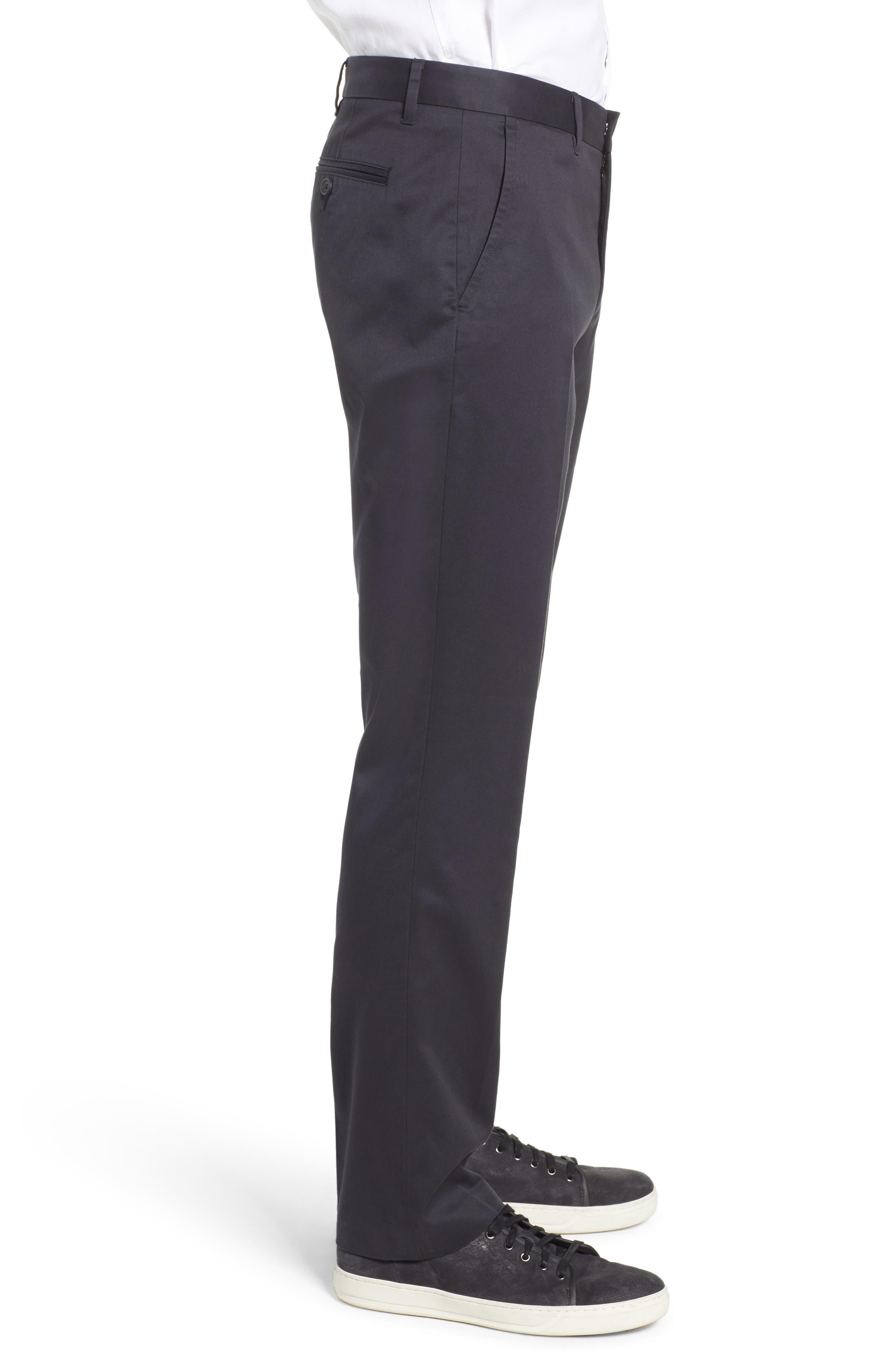 BONOBOS, Weekday Warrior Straight Leg Stretch Dress Pants, Alternate thumbnail 4, color, 001