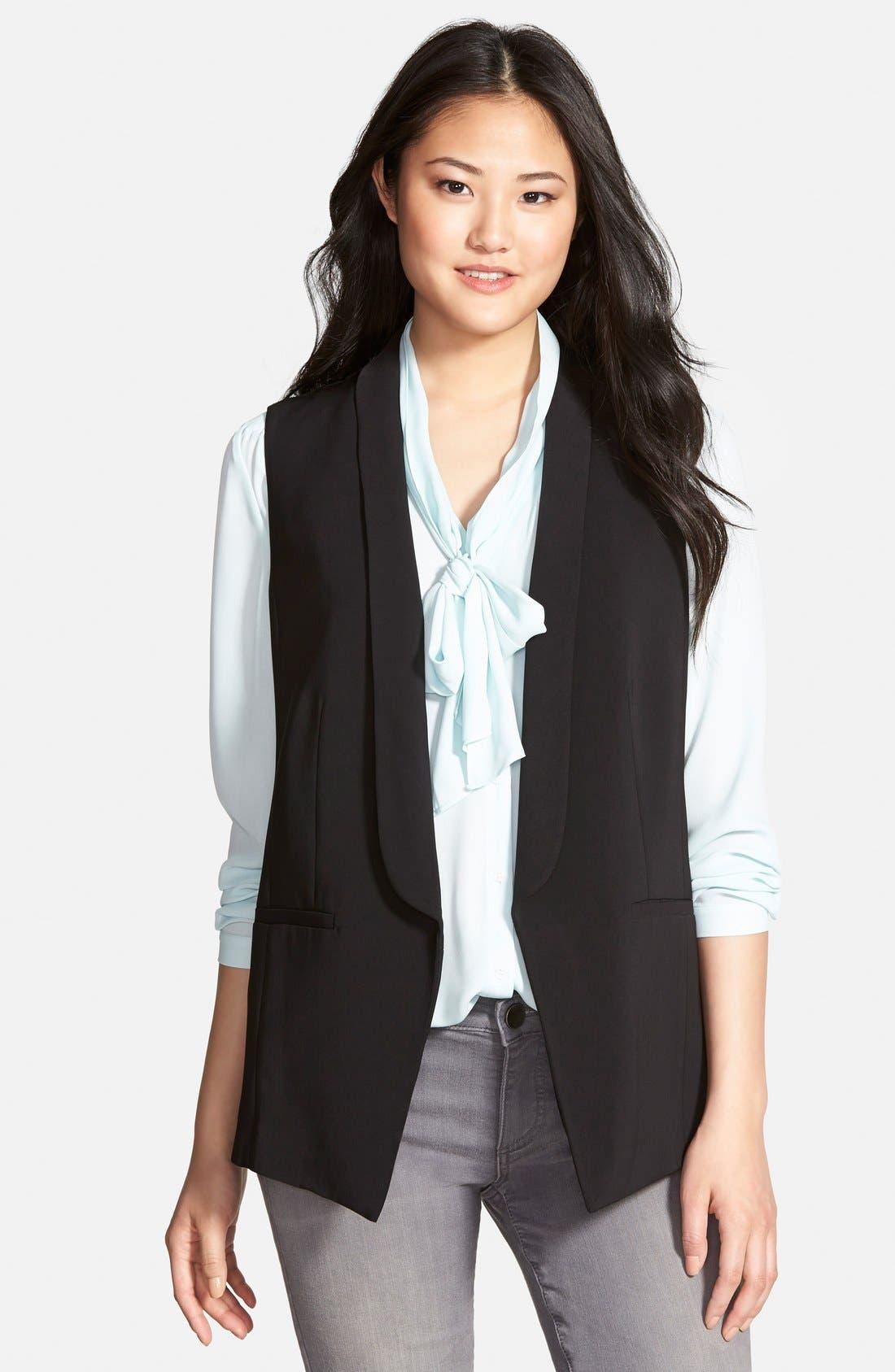 HALOGEN<SUP>®</SUP> Shawl Collar Vest, Main, color, 001