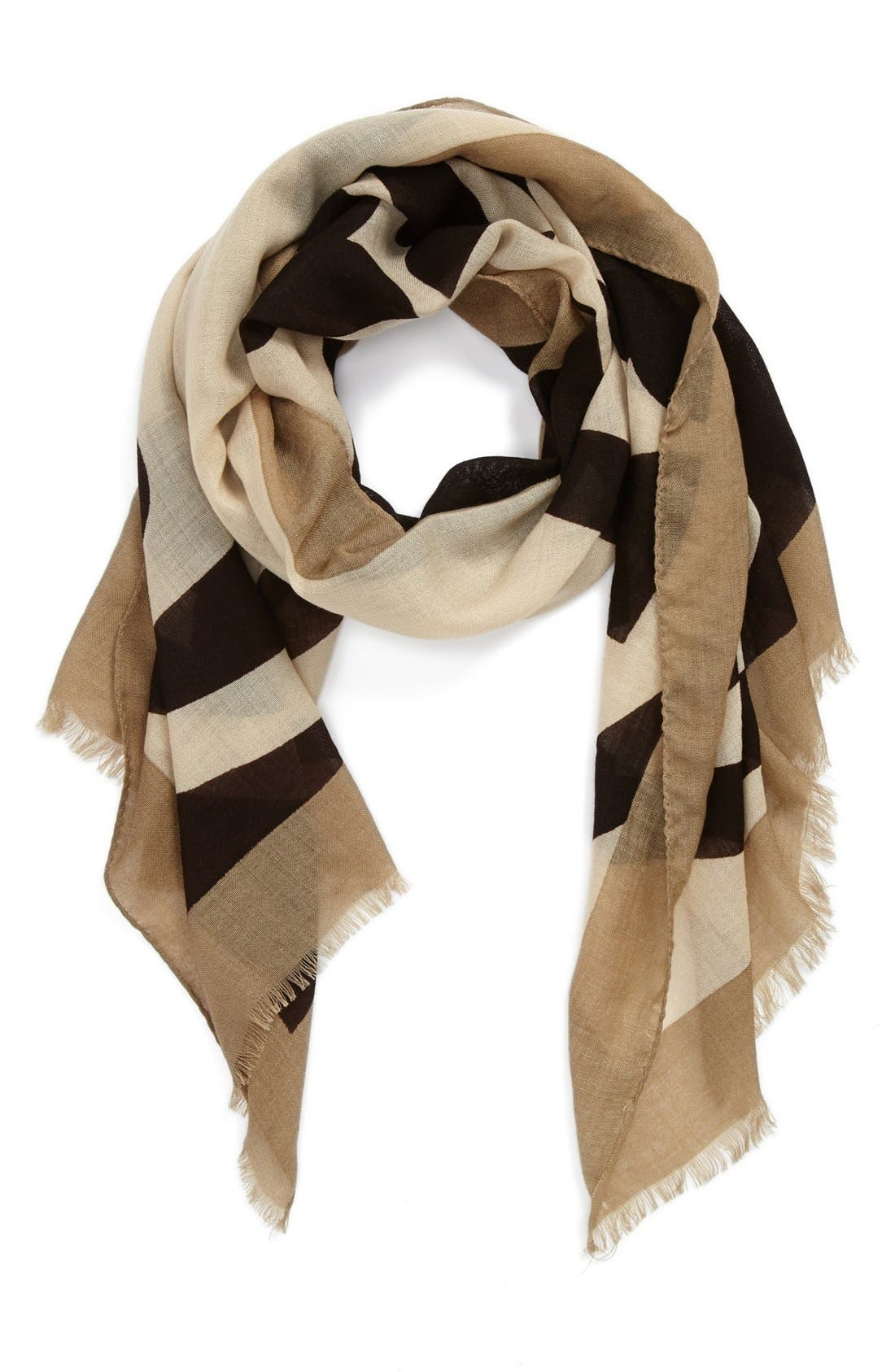 TORY BURCH 'Reva' Wool Scarf, Main, color, 200