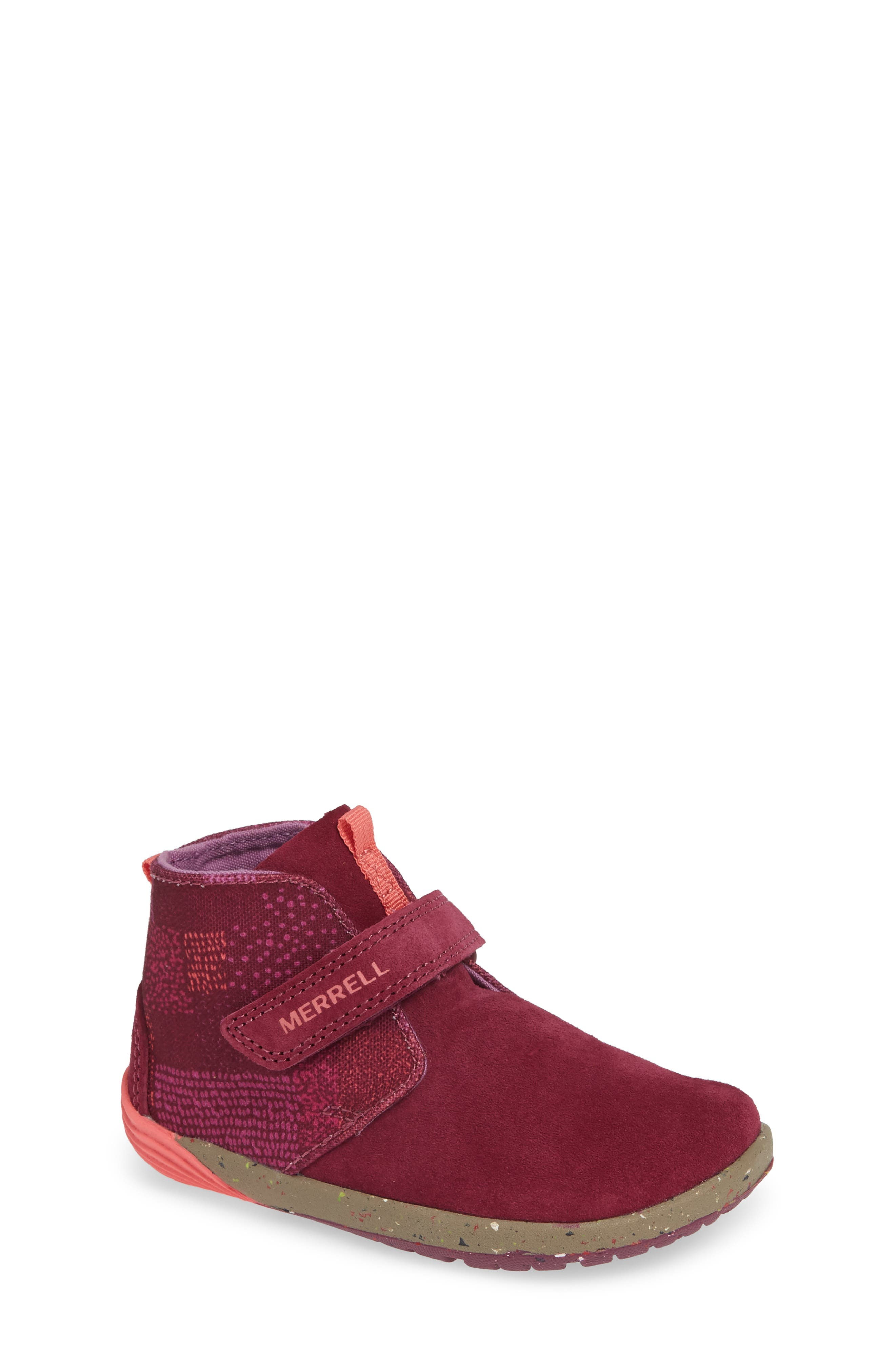 MERRELL, Bare Steps Boot, Main thumbnail 1, color, BERRY