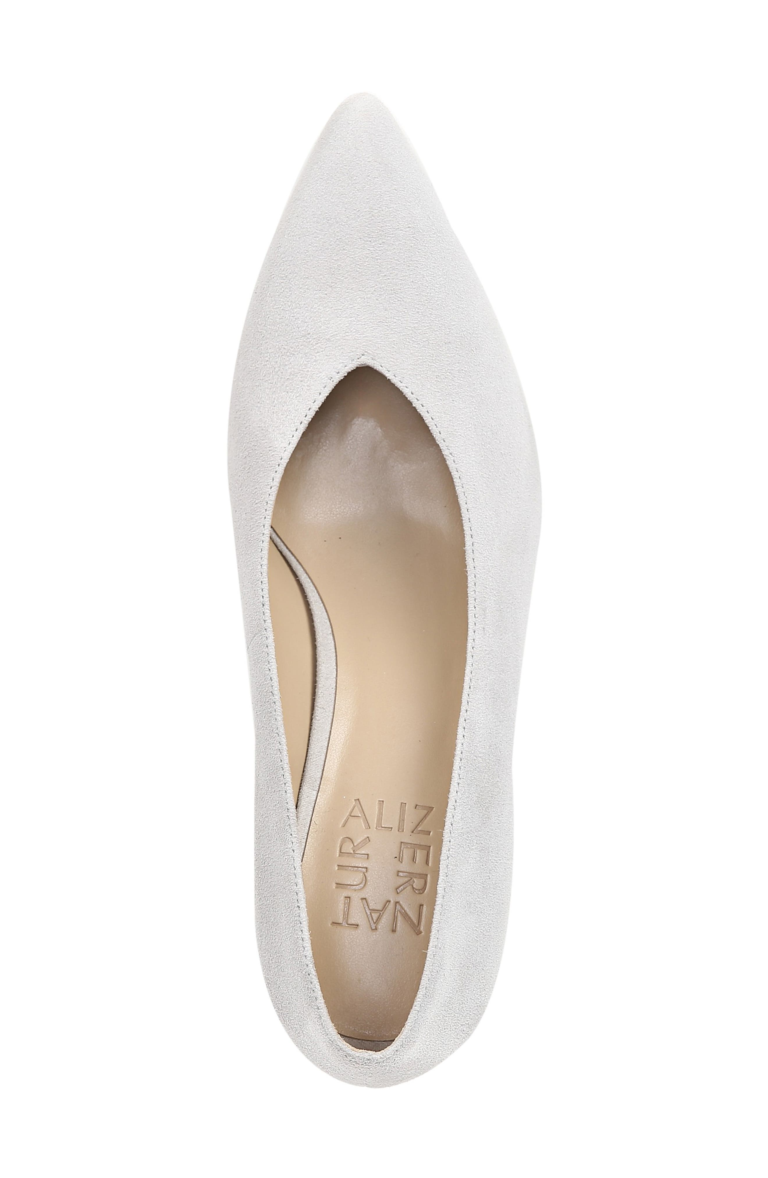 NATURALIZER, Hope Pointy Toe Pump, Alternate thumbnail 5, color, ICY GREY SUEDE